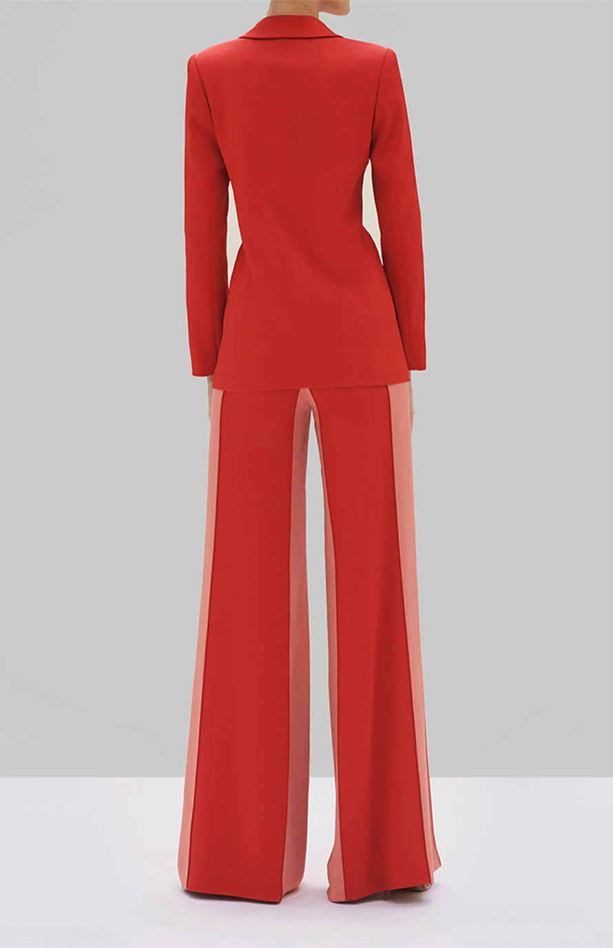 Alexis Nevra Blazer and Flin Pant Red - Rear View