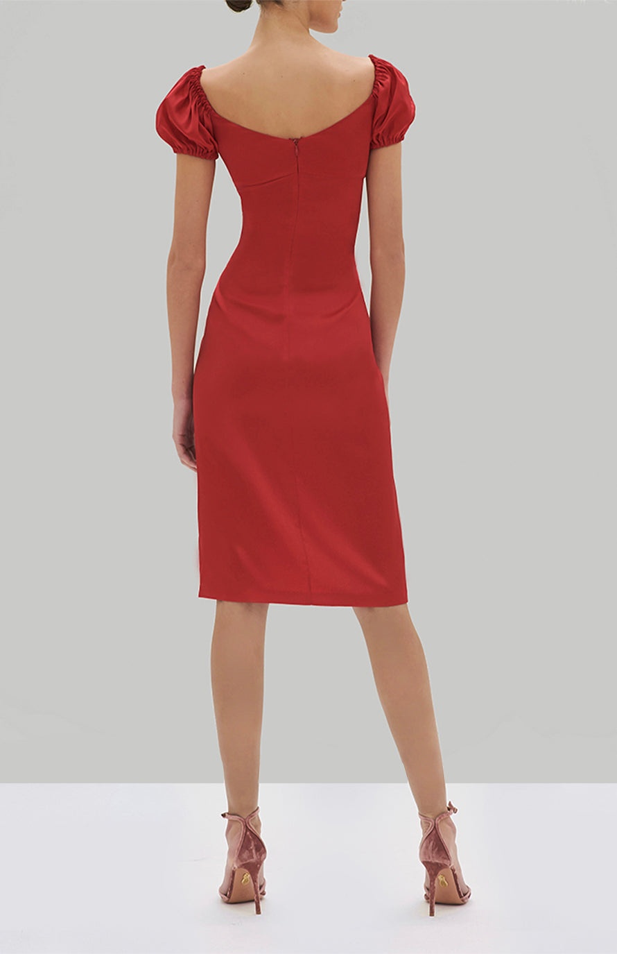 Alexis Cadiz Dress Red - Rear View