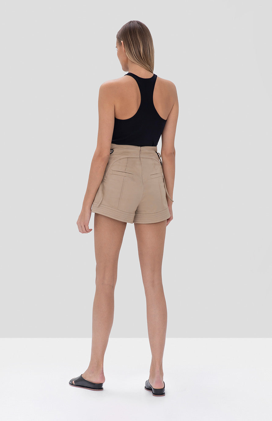 winnick shorts tan - Rear View