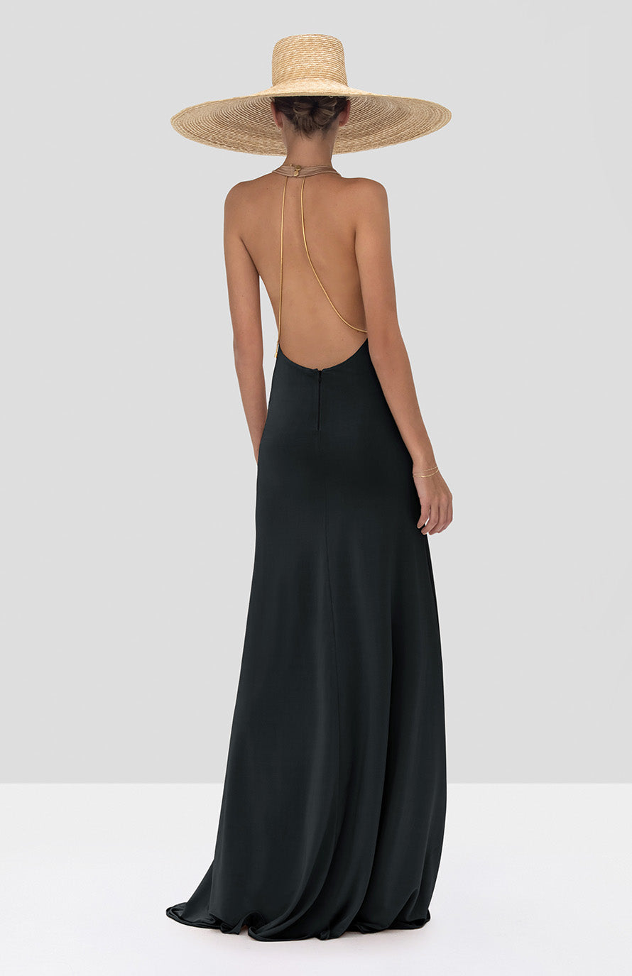 Alexis Xaverie Dress in Black from the Spring Summer 2020 Collection - Rear View