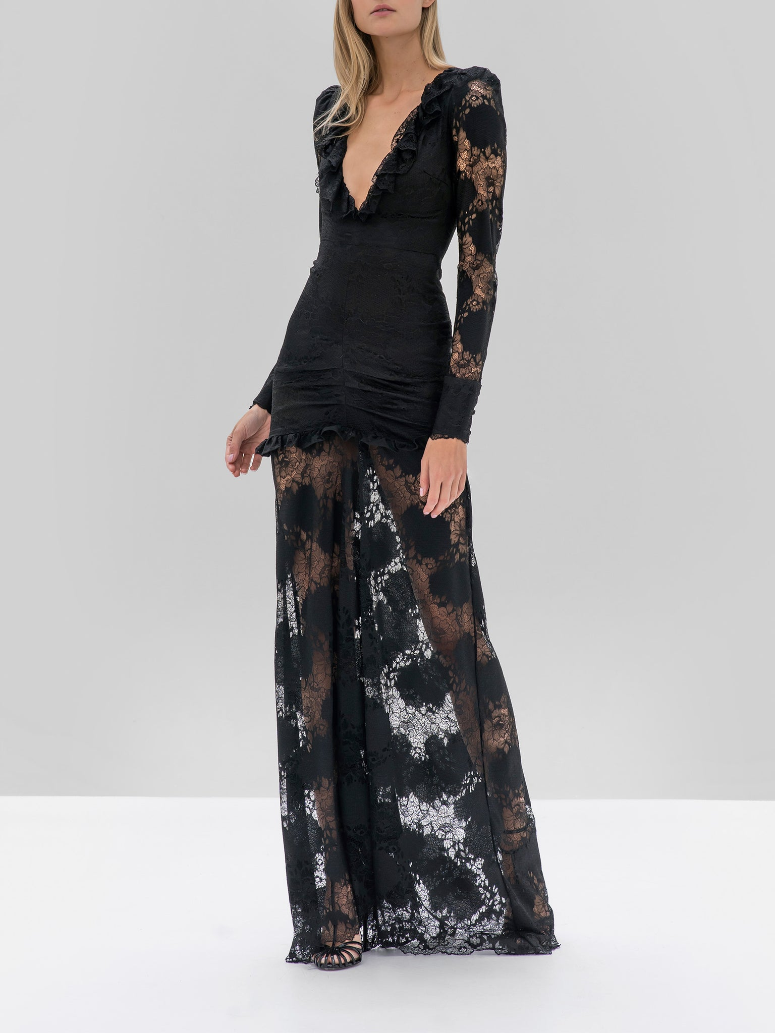 Alexis Lucasta Dress in Black from the Fall Winter 2019 Ready To Wear Collection