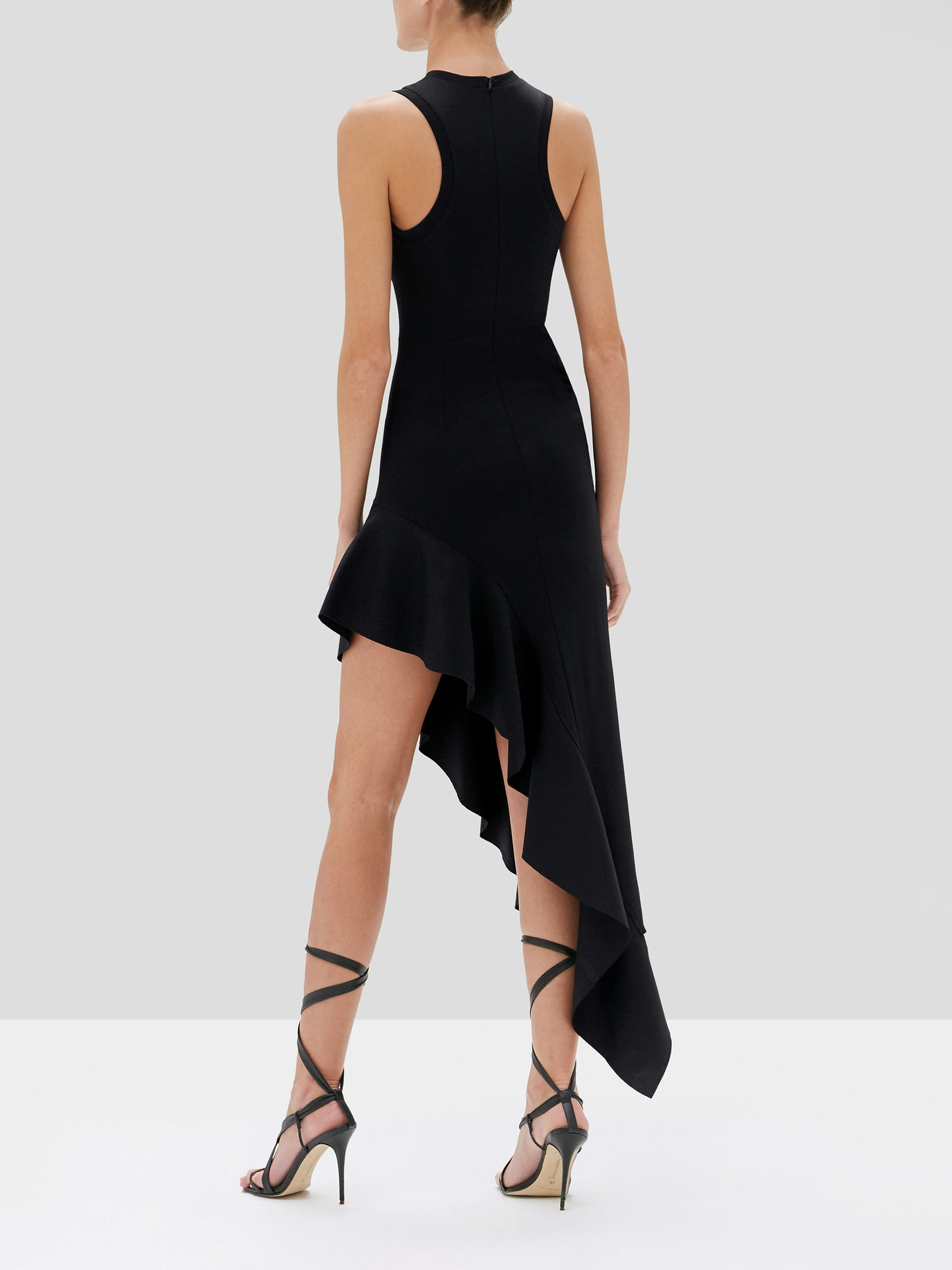adva dress in black - Rear View