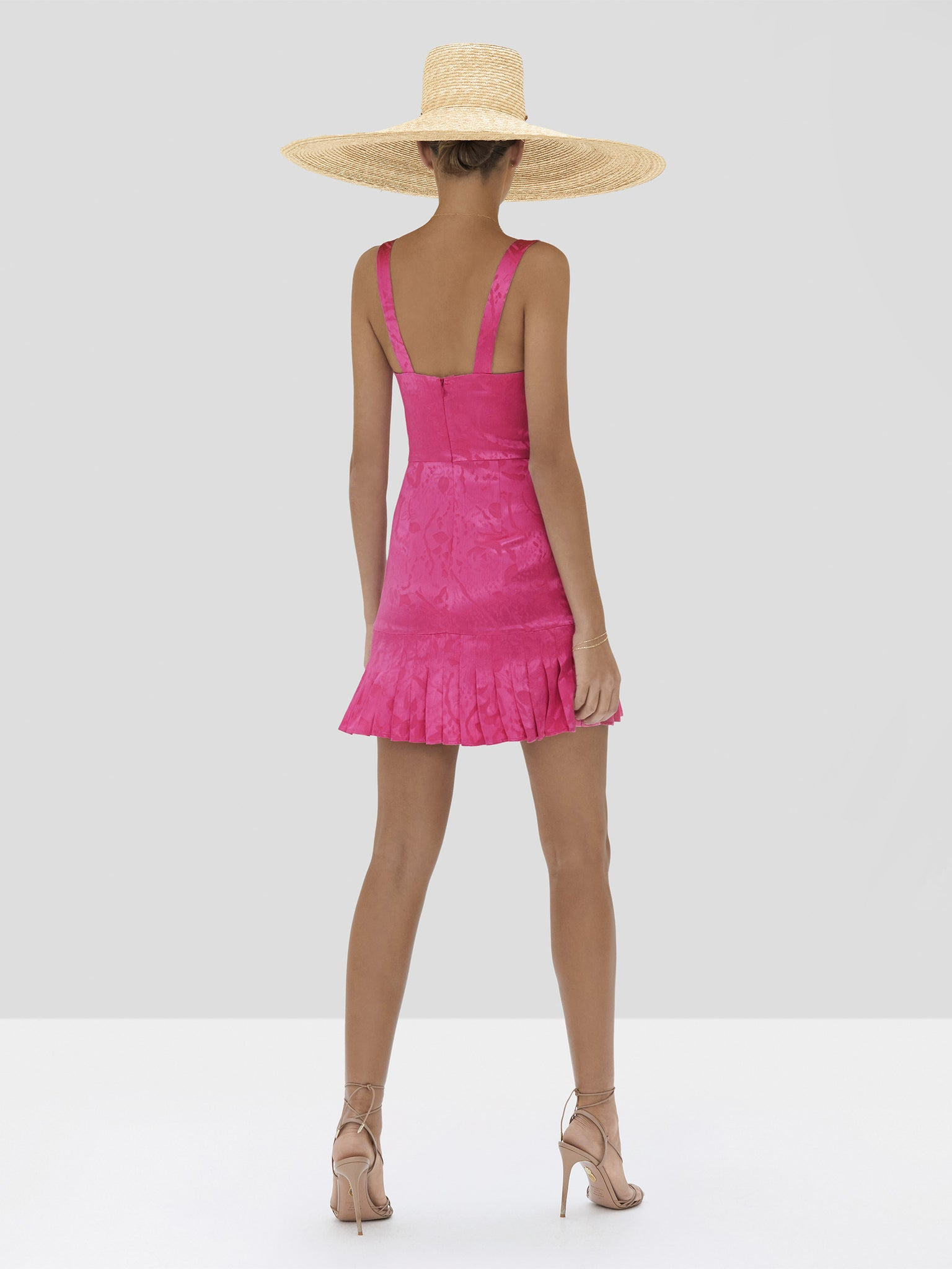 Alexis Alys Dress in Vivid Fuschia from Spring Summer 2020 Collection - Rear View
