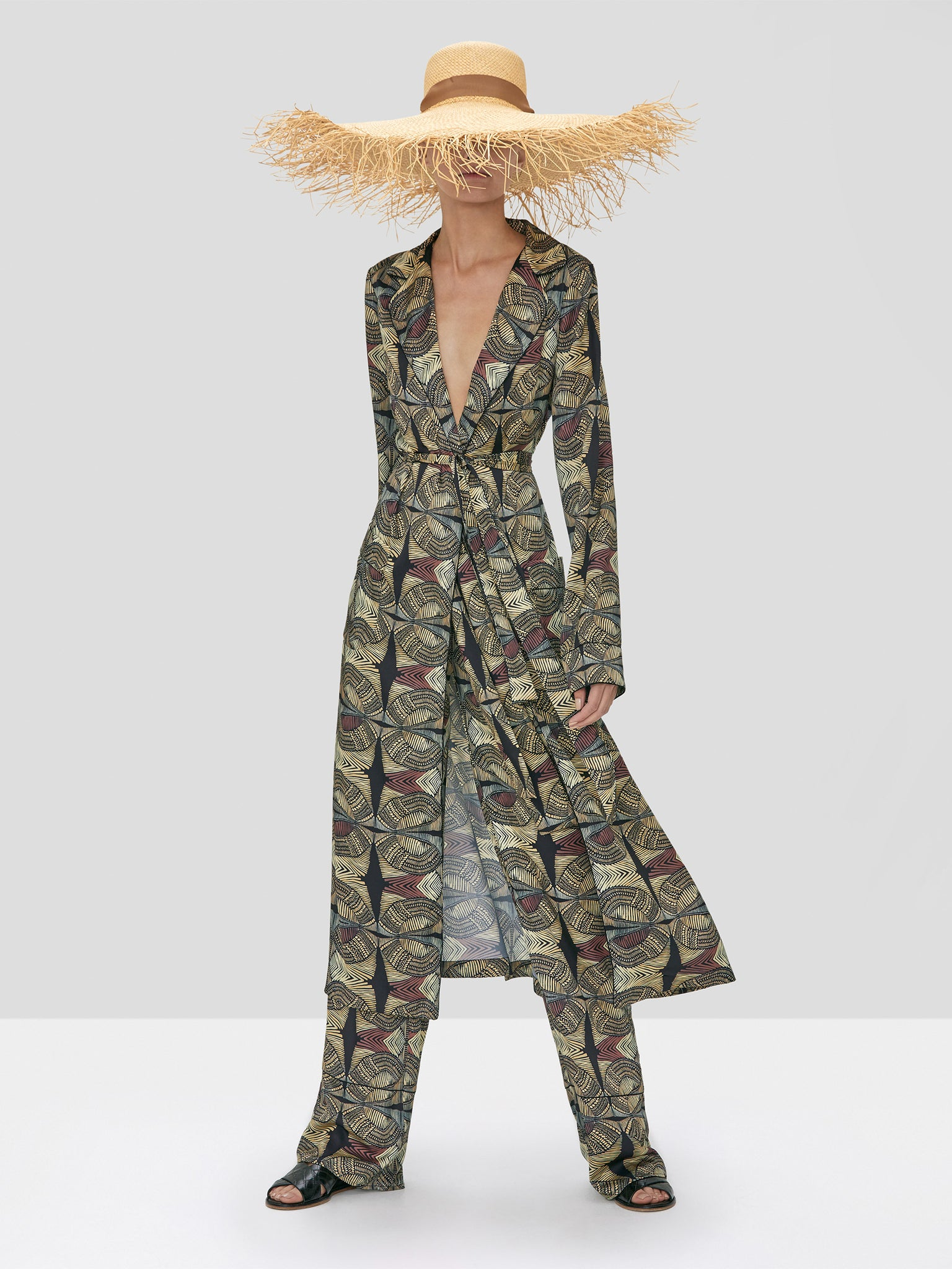 Alexis Arrati Coat and Amptin Pant in Safari from Spring Summer 2020