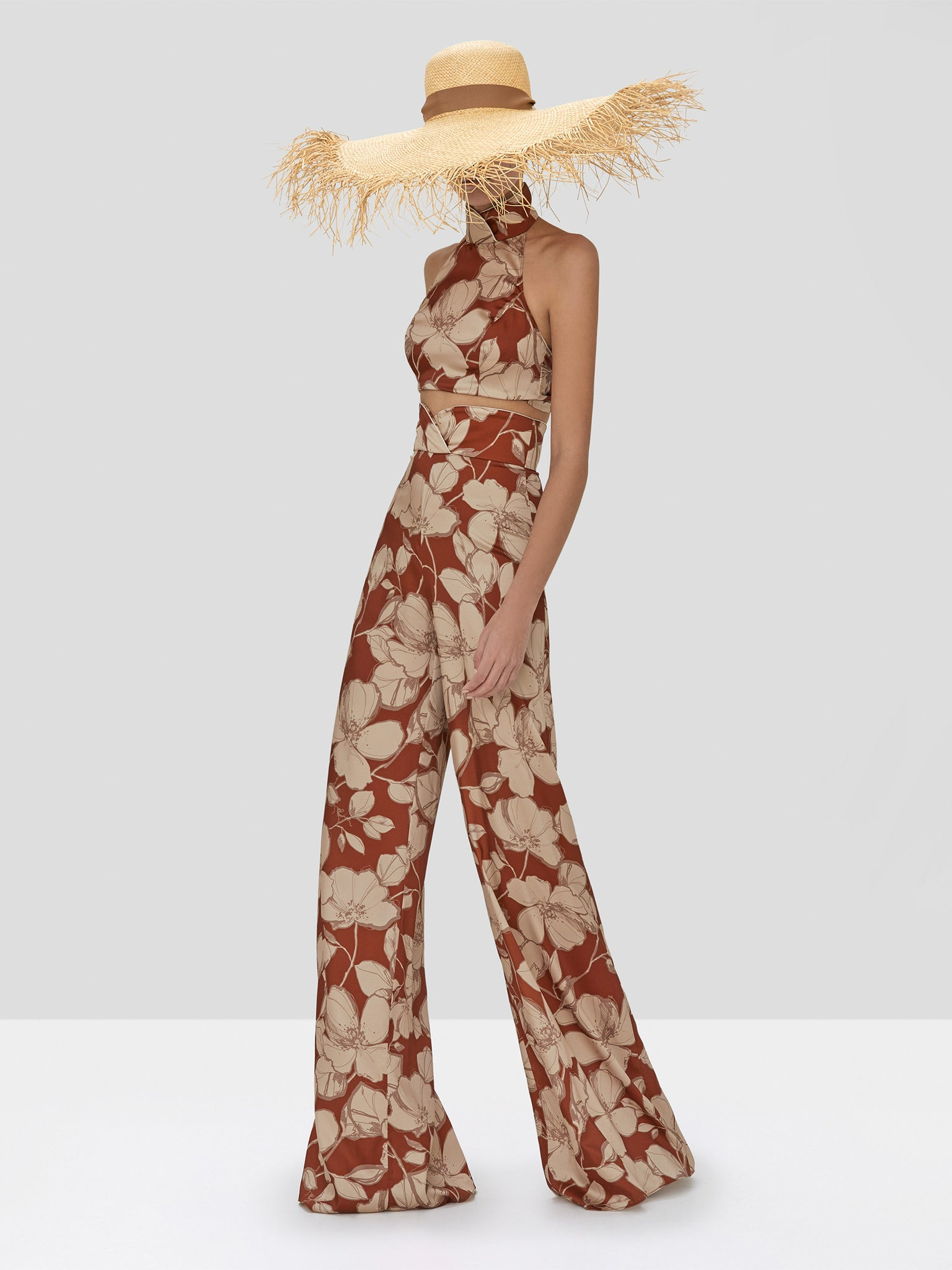 Alexis Bala Crop Top and Haruna Pant in Sand Floral from the Spring Summer 2020 Collection