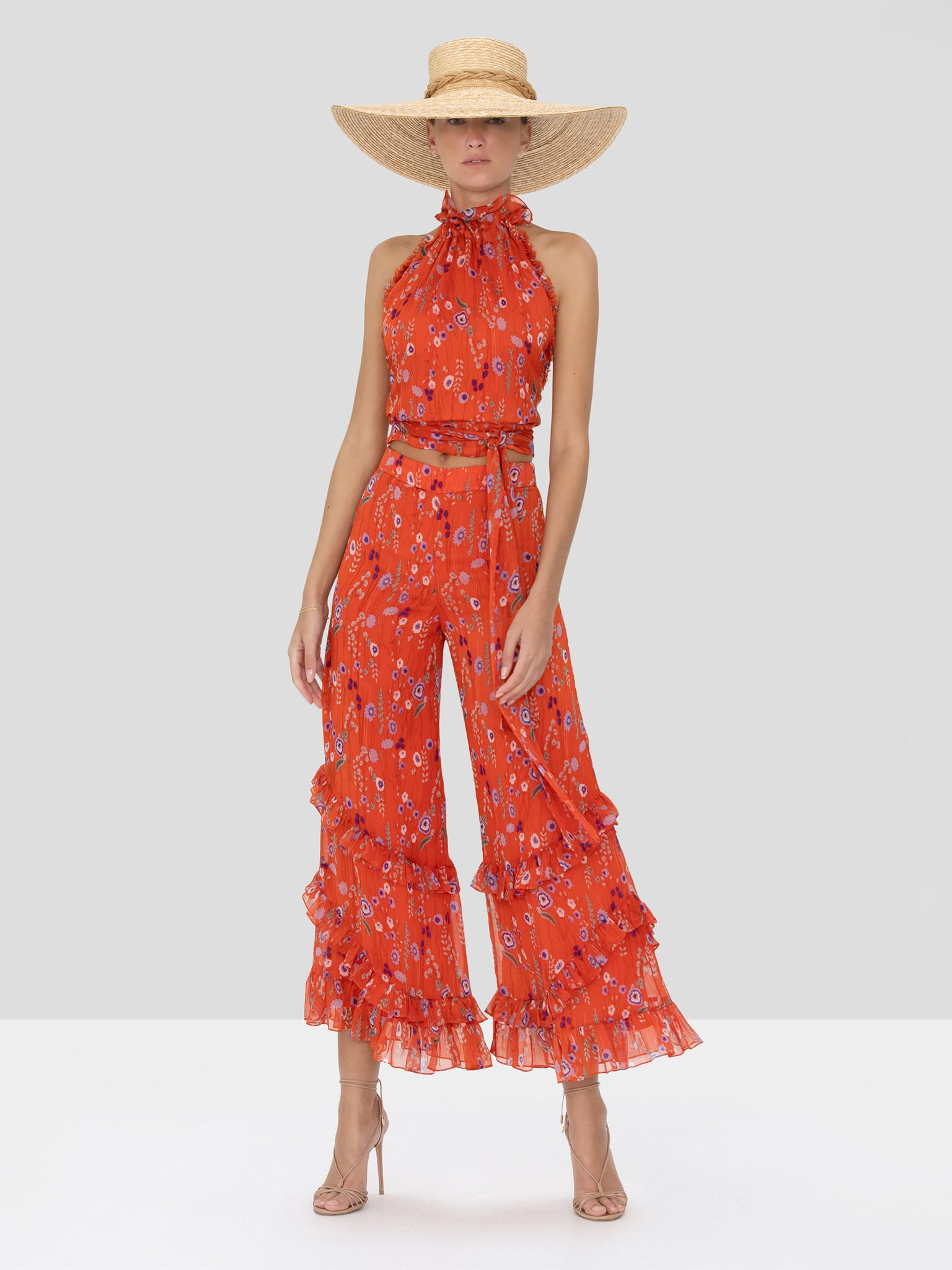Alexis Balbina Top and Faizel Pant in Red Bouquet from Spring Summer 2020 Collection