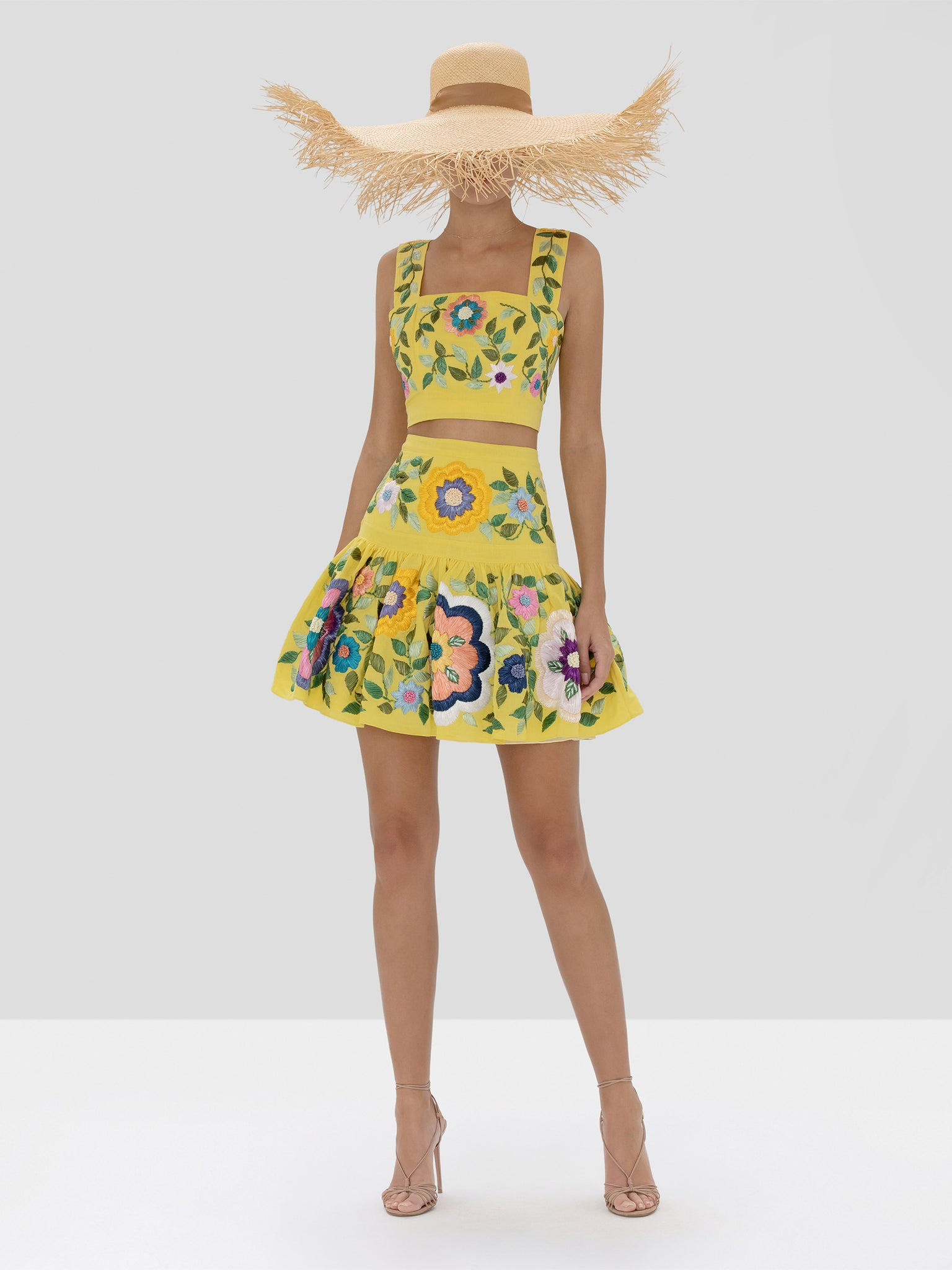 Alexis Bekki Crop Top and Kasandra Skirt in Blooming Floral from Spring Summer 2020 Collection