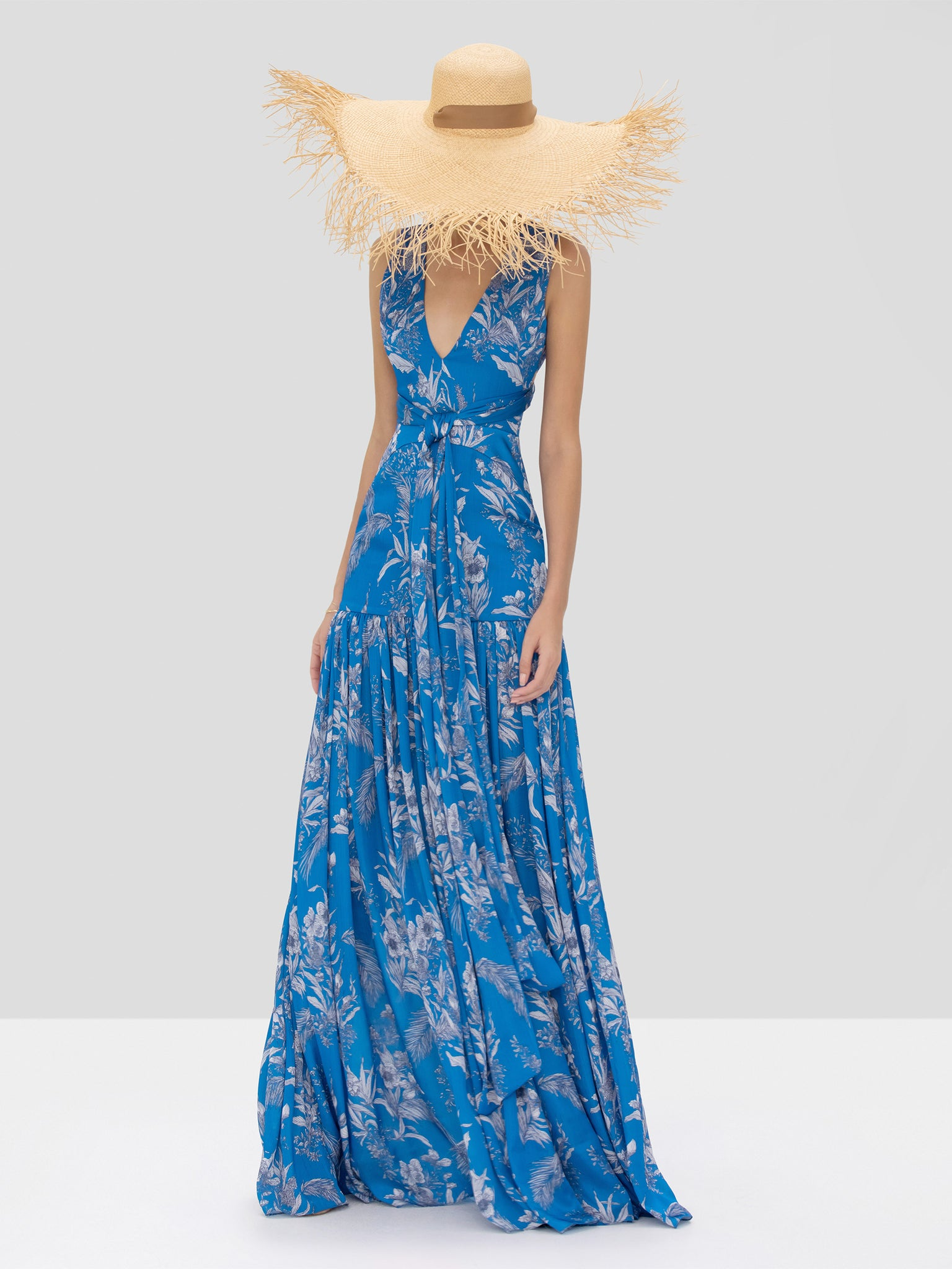 Alexis Belaya Dress in Blue Palm from Spring Summer 2020 Collection