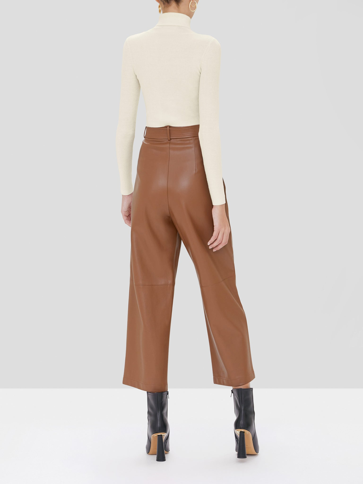 roy vegan leather pant - Rear View