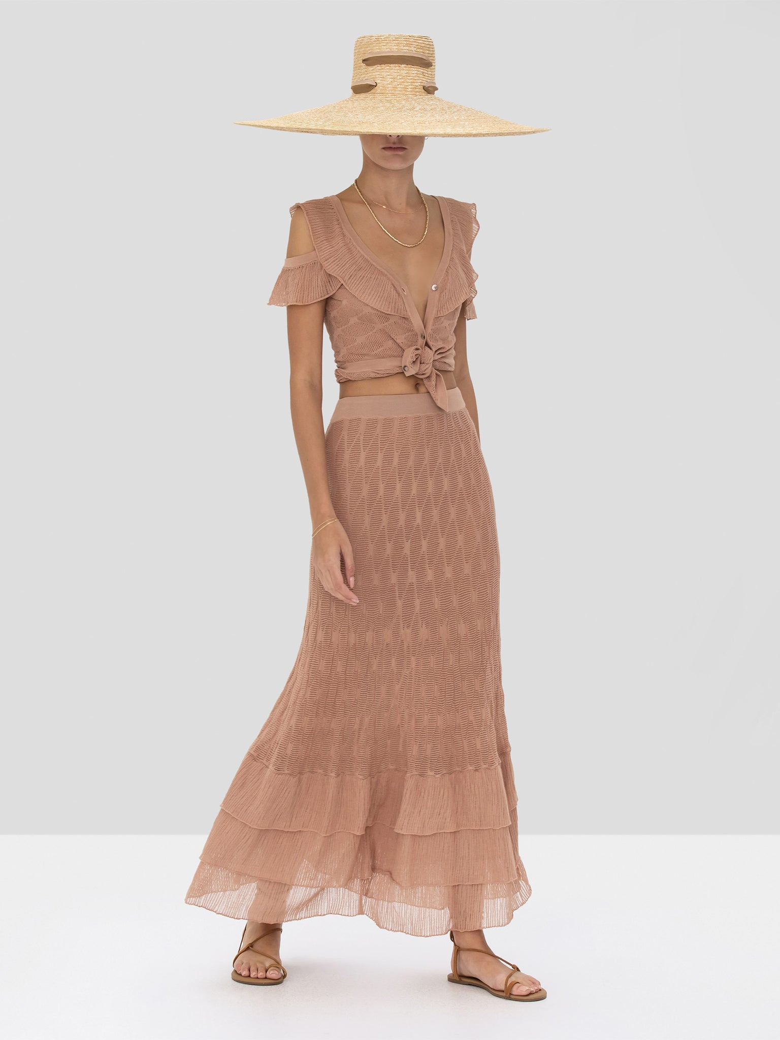Alexis Belva Top and Dimona Skirt in Sand Spring Summer 2020 Collection