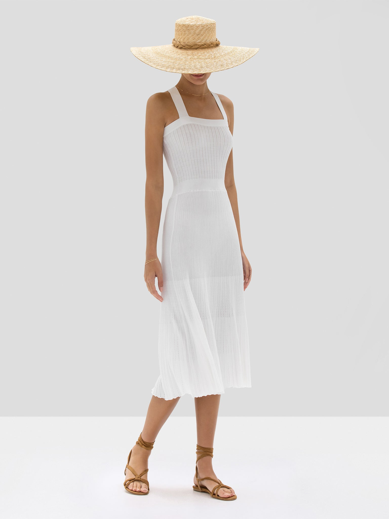 The Bess Dress in White from the Spring Summer 2020