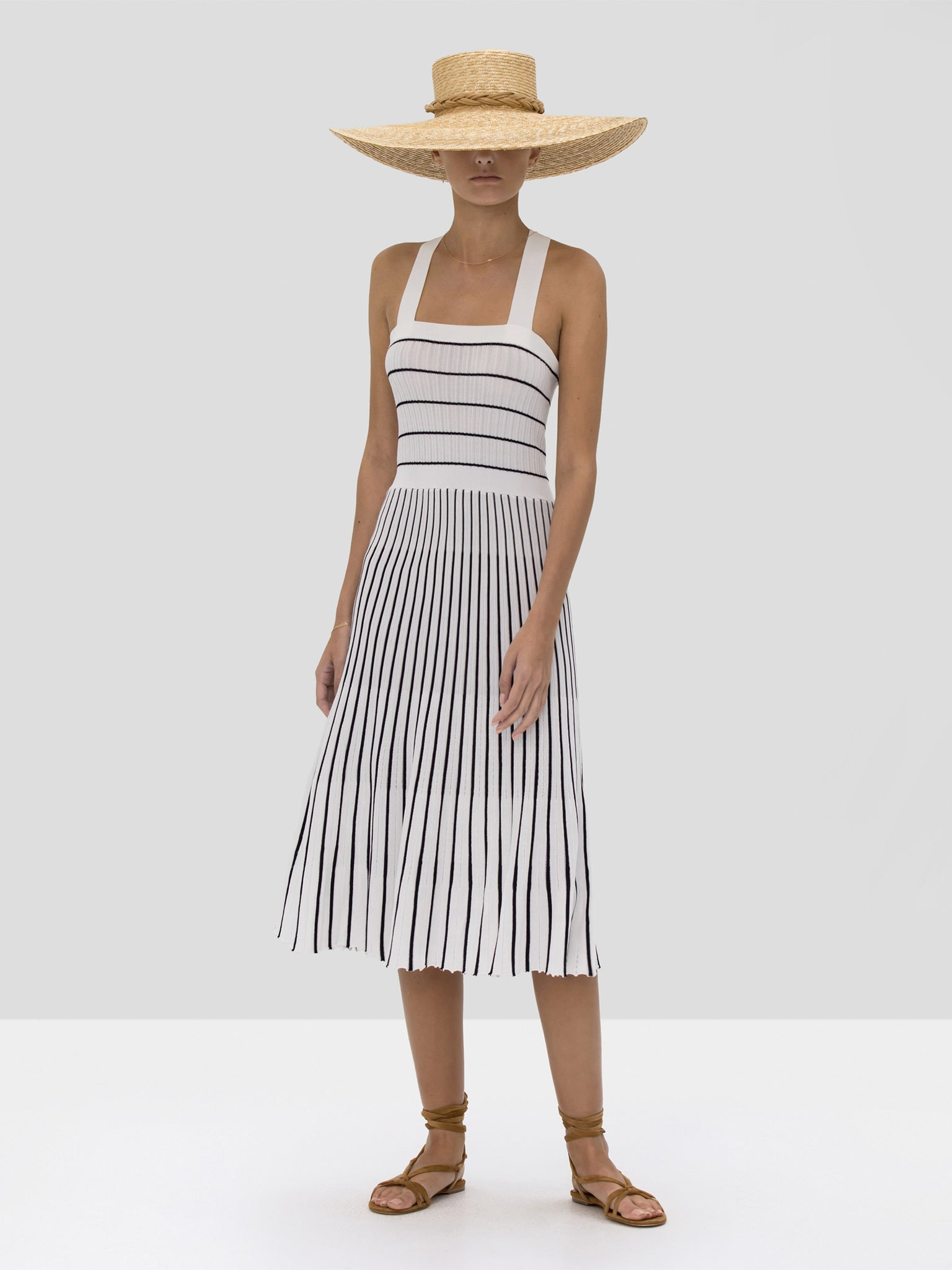 The Bess Dress in Navy White Stripes from the Spring Summer 2020