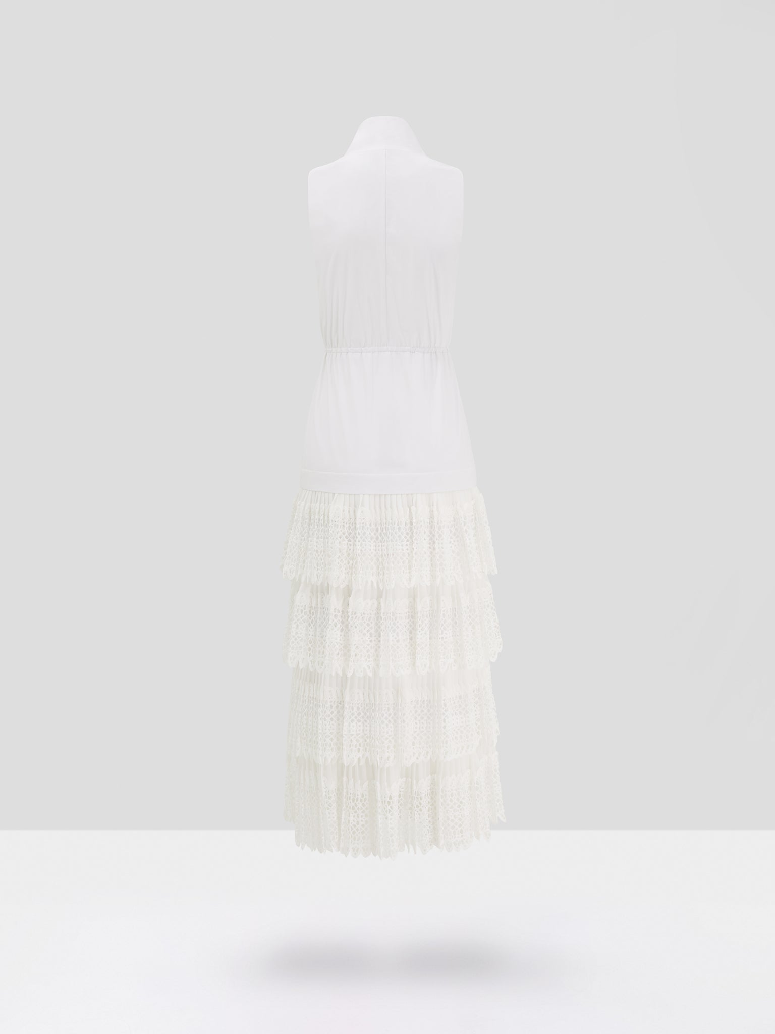 Alexis Brinna Dress in White - Rear View
