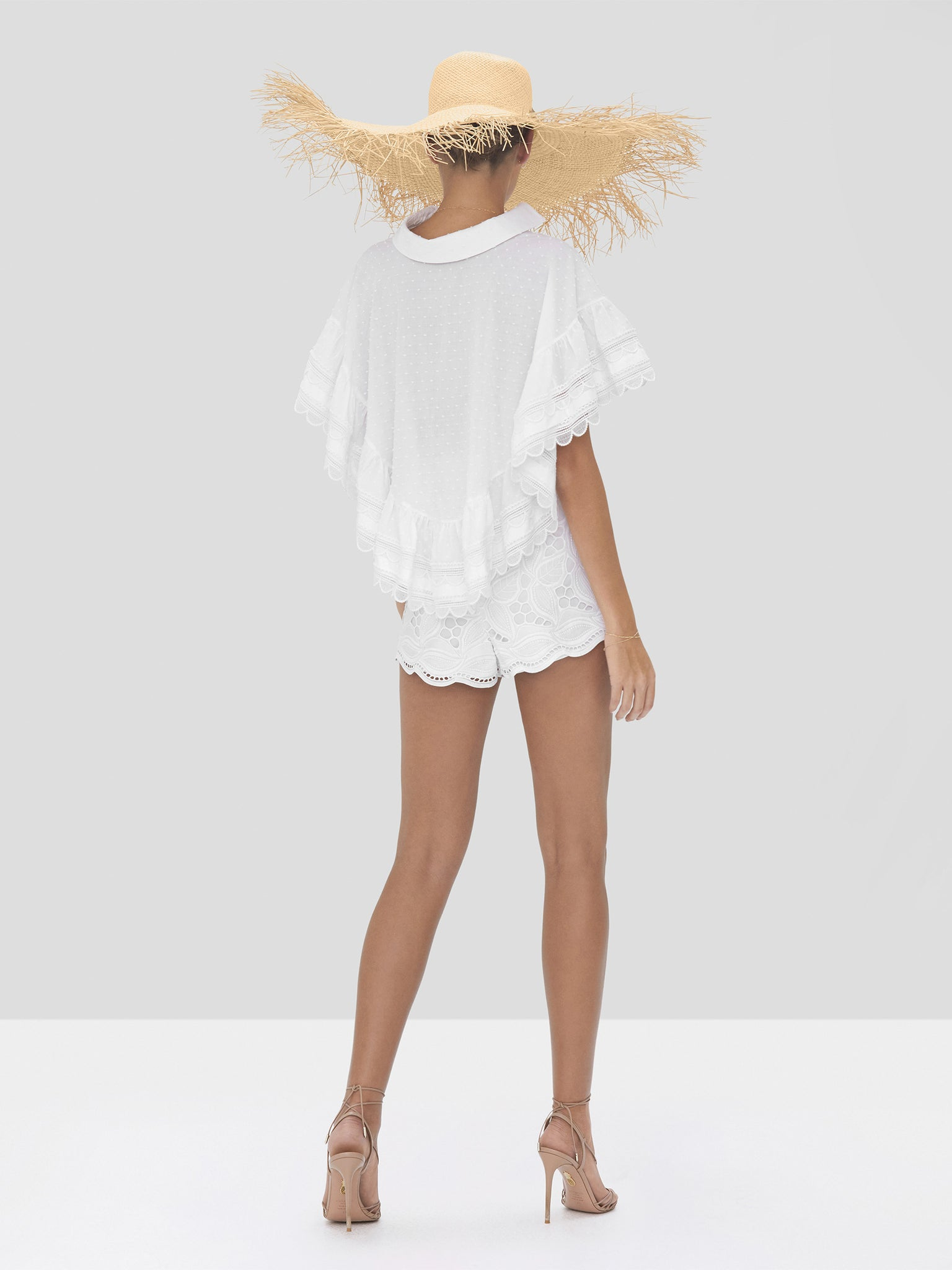 Alexis Casimir Top and Bowes Short in White from Spring Summer 2020 - Rear View