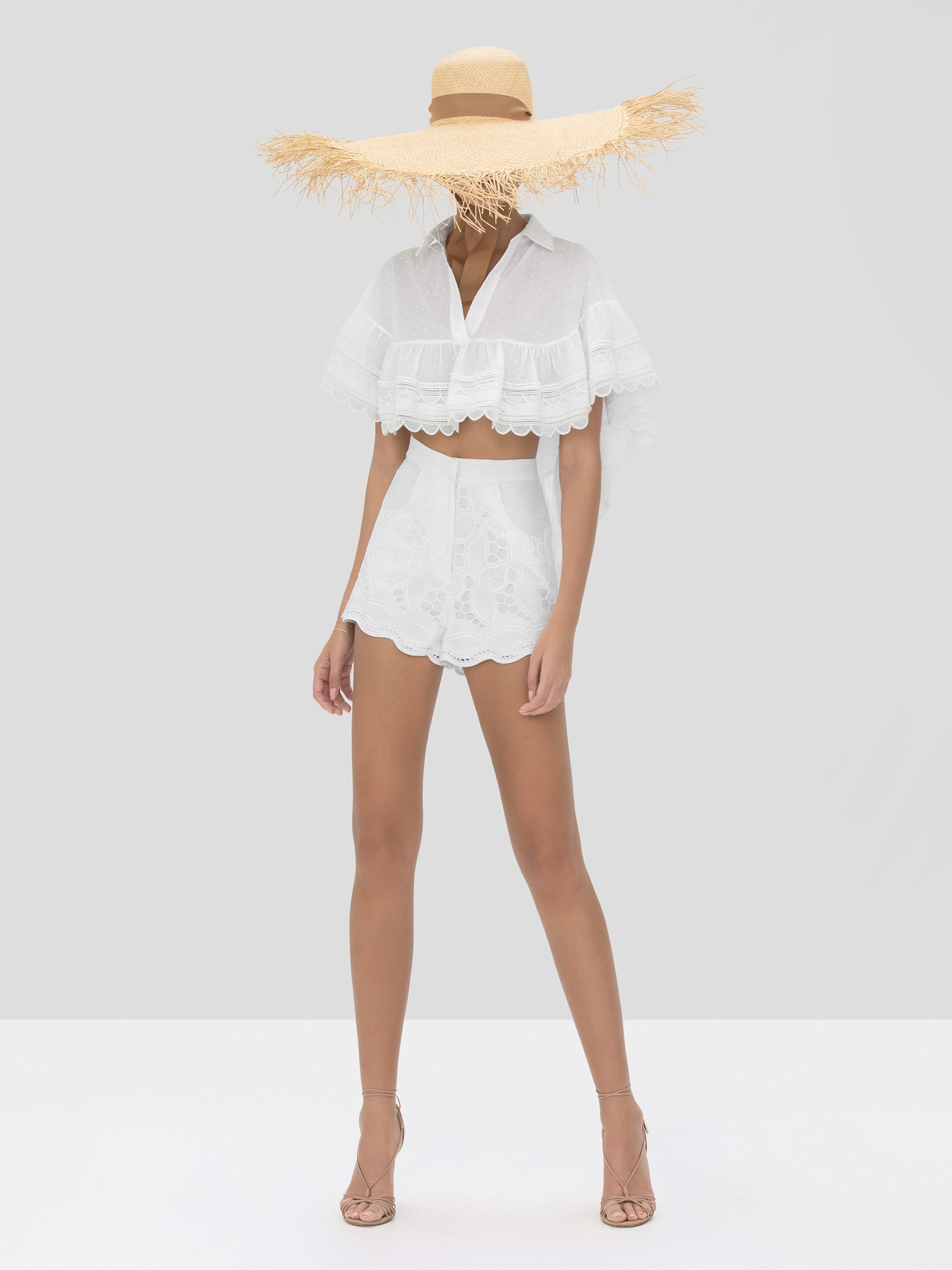 Alexis Casimir Top and Bowes Short in White from Spring Summer 2020