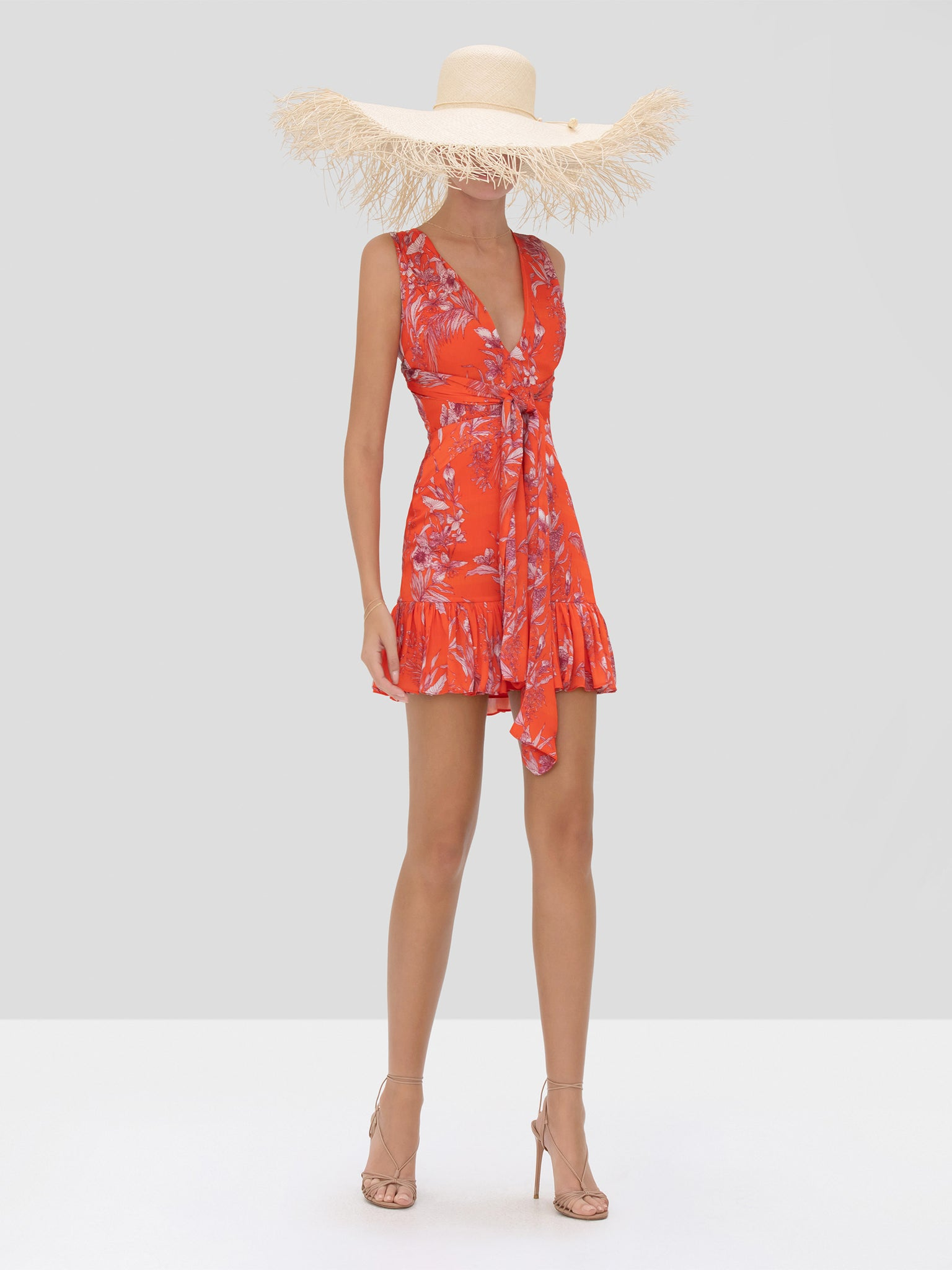 Alexis Cassara Dress in Mandarin Palm from Spring Summer 2020 Collection