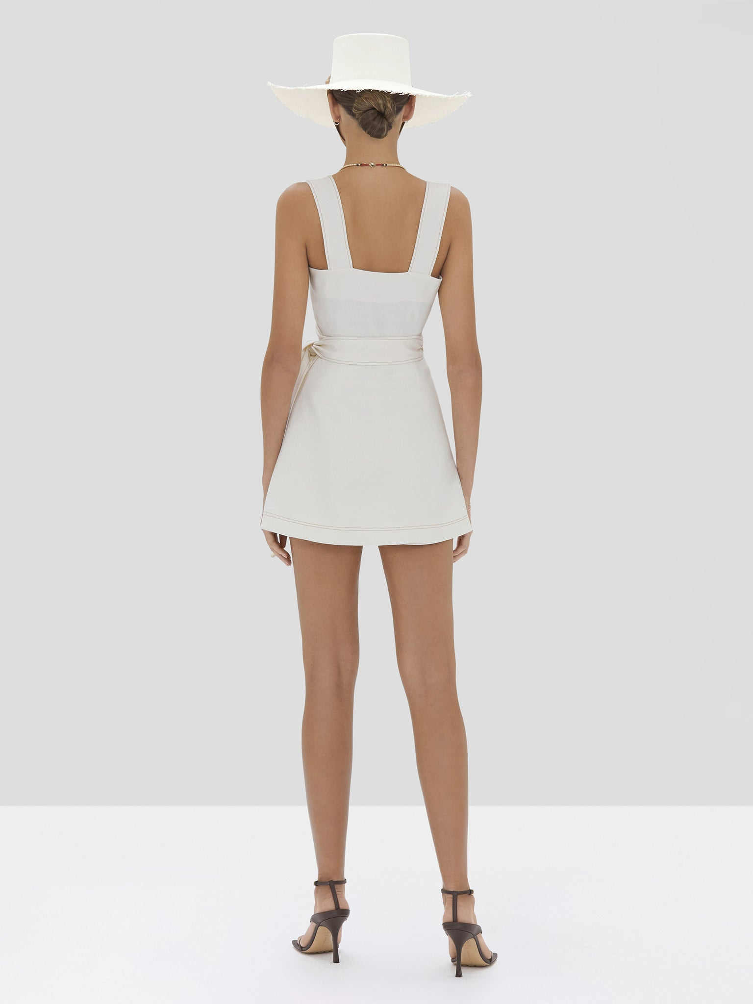 The Catia Romper in Off White from the Spring Summer 2020 - Rear View