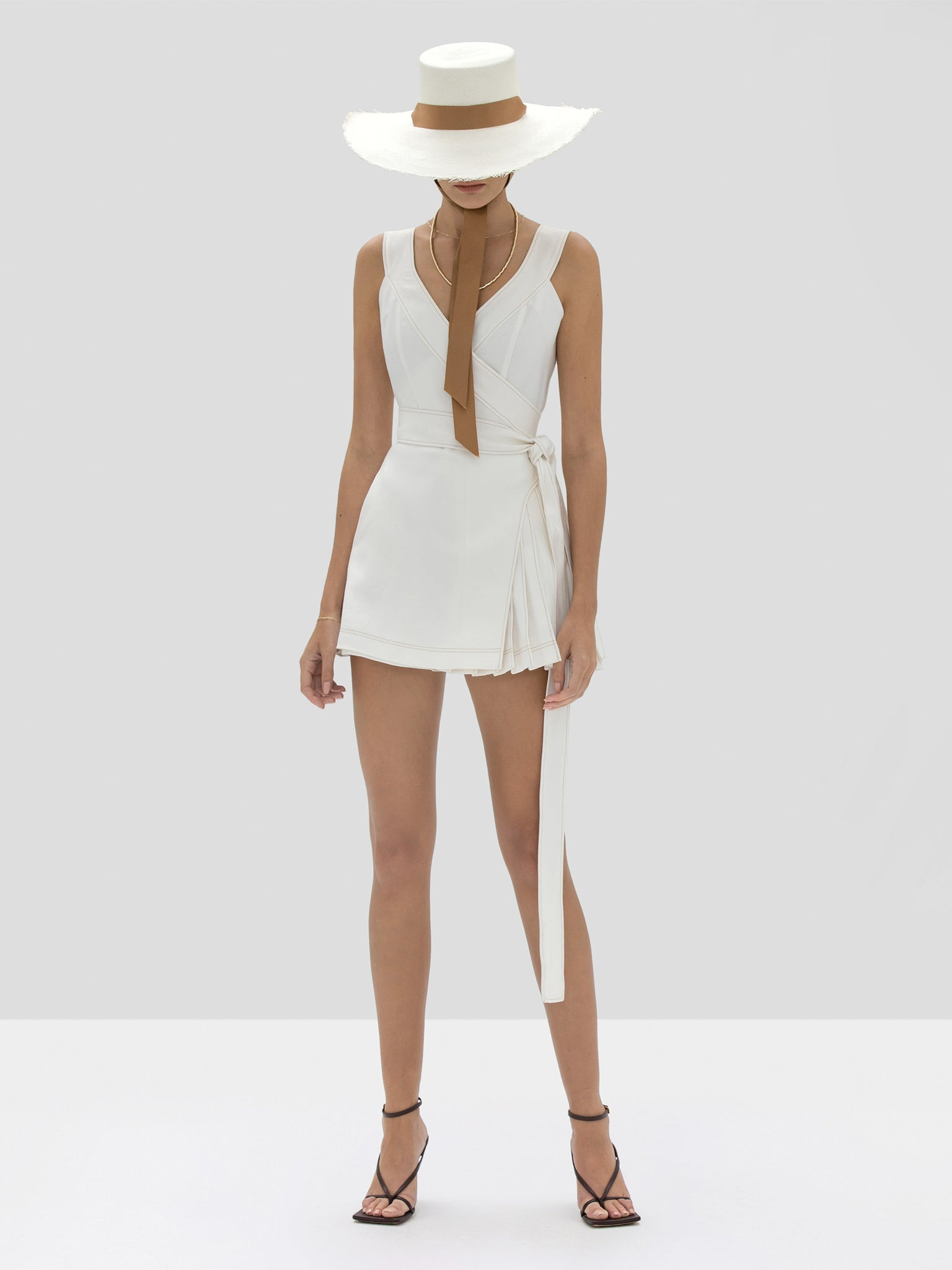 The Catia Romper in Off White from the Spring Summer 2020