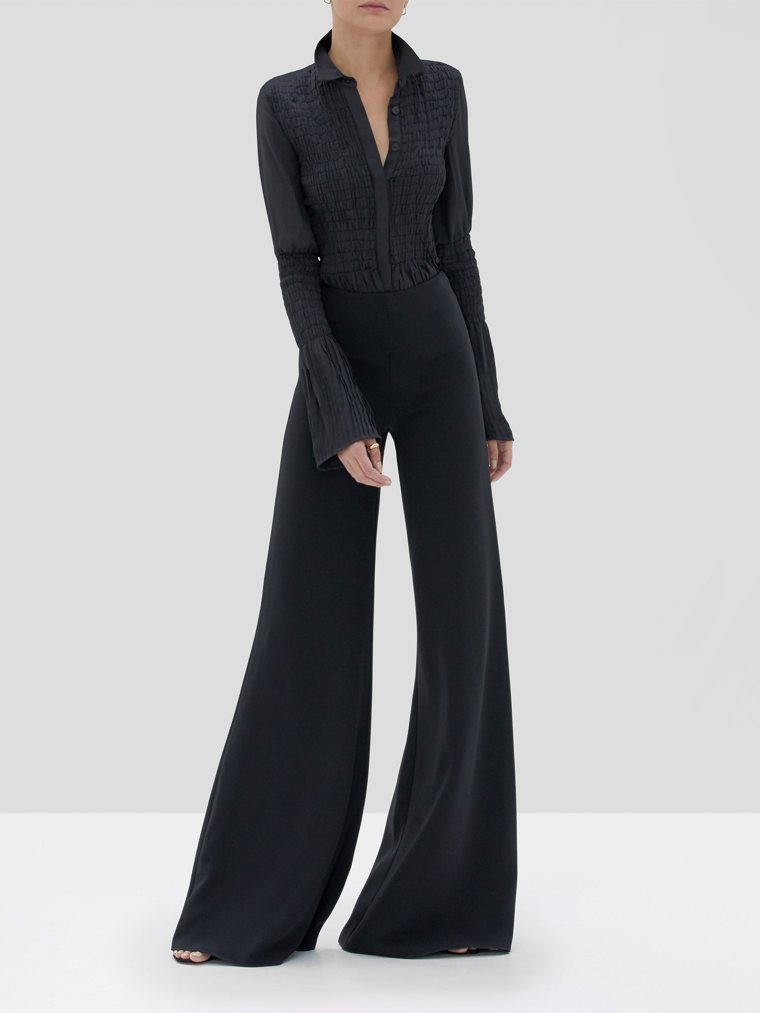 Alexis Chantal Top Black and Irvine Pant Black from Fall Winter 2019 Ready To Wear Collection