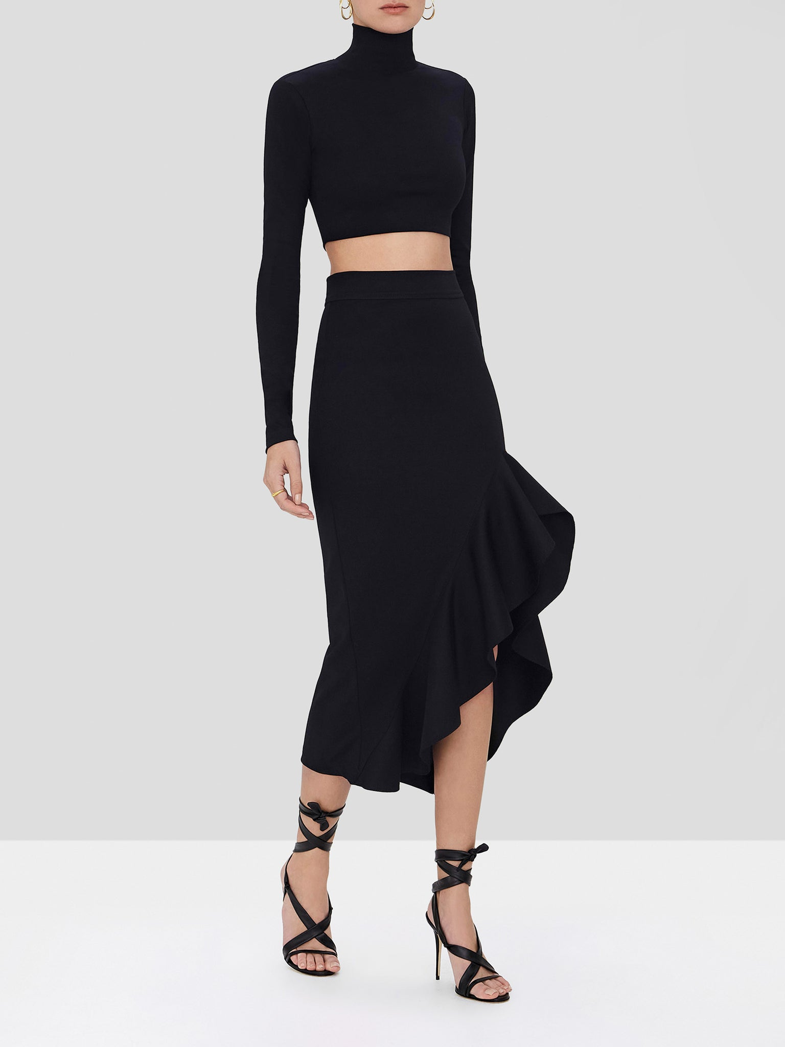 bani skirt in black