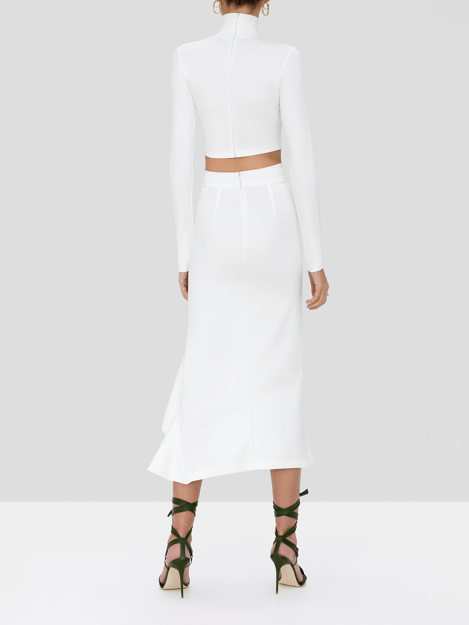 bani skirt in white - Rear View