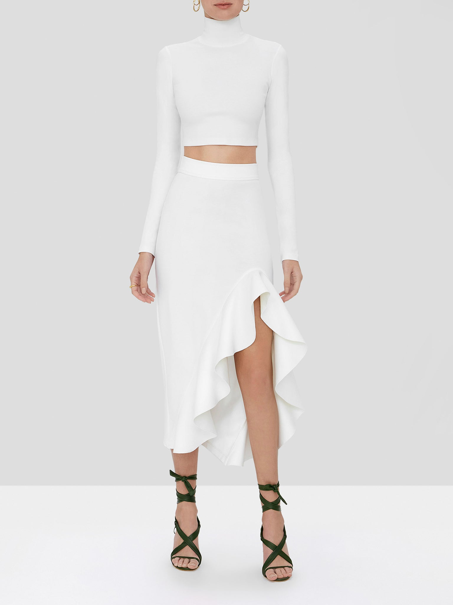 bani skirt in white
