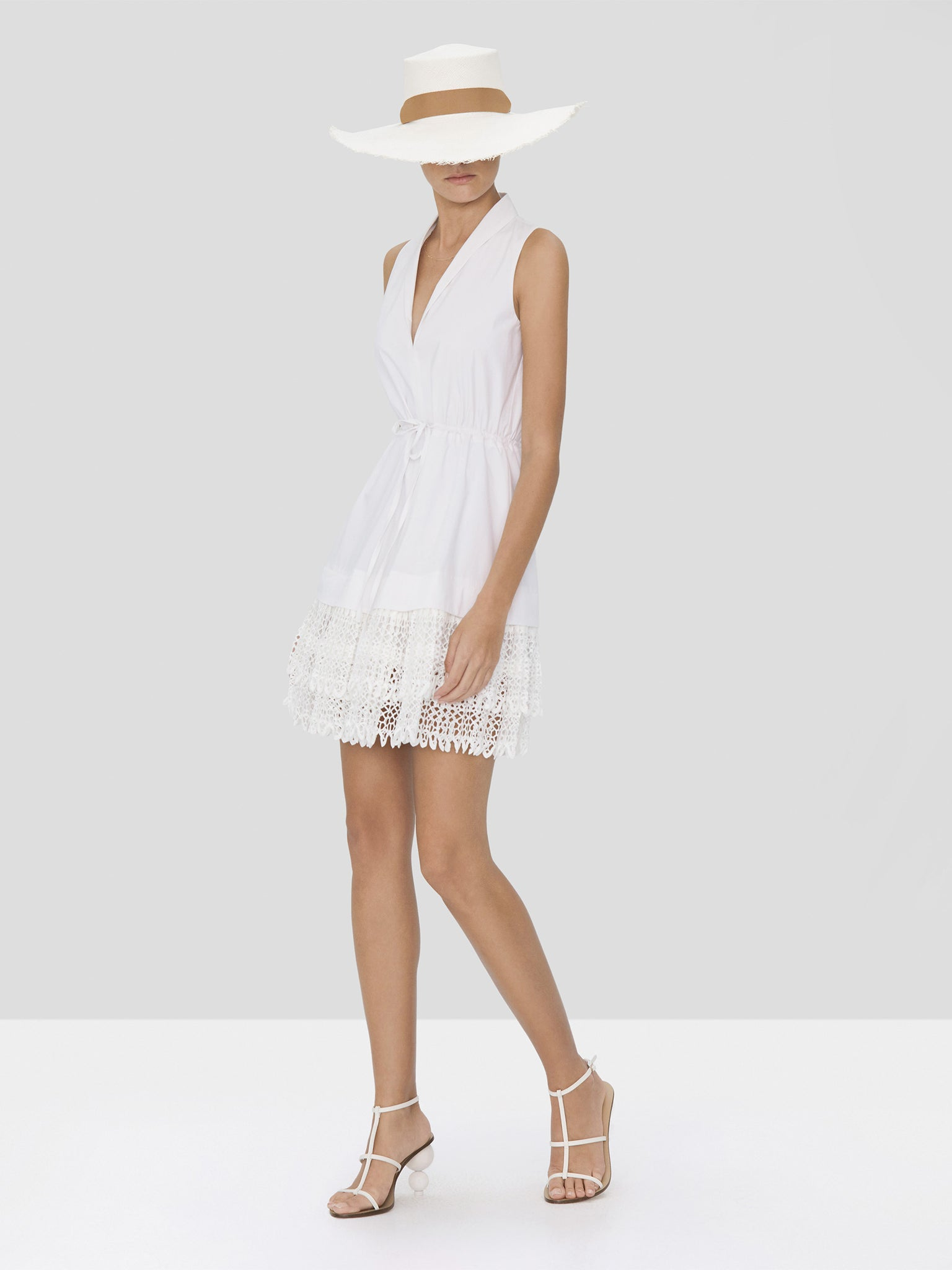 Alexis Clauden Dress in White from Spring Summer 2020 Collection