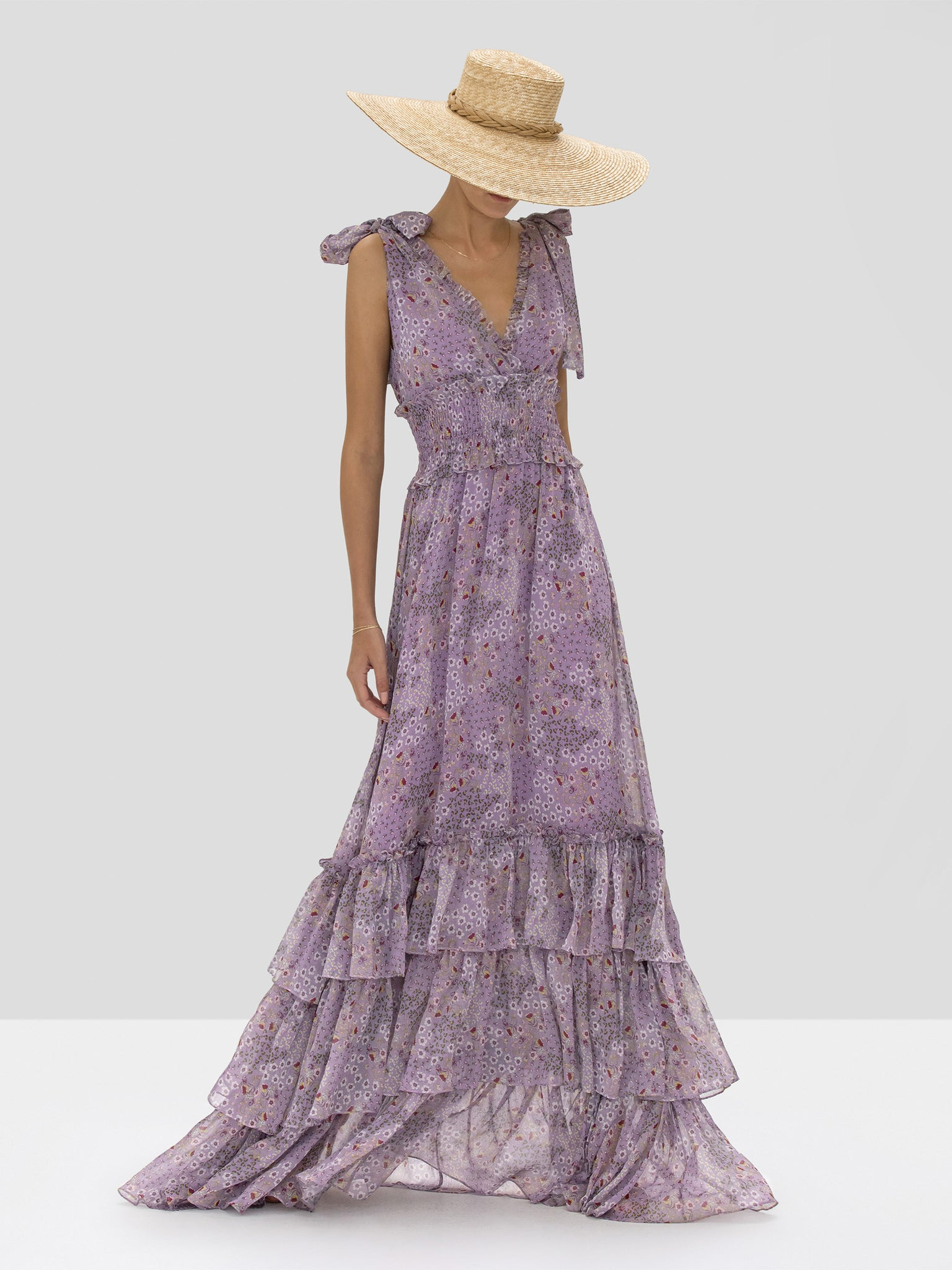 Alexis Clemence Dress in Purple Bouquet from Spring Summer 2020