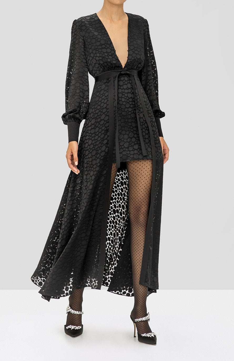 Alexis Cordelia Dress in Black from the Holiday 2019 Ready To Wear Collection
