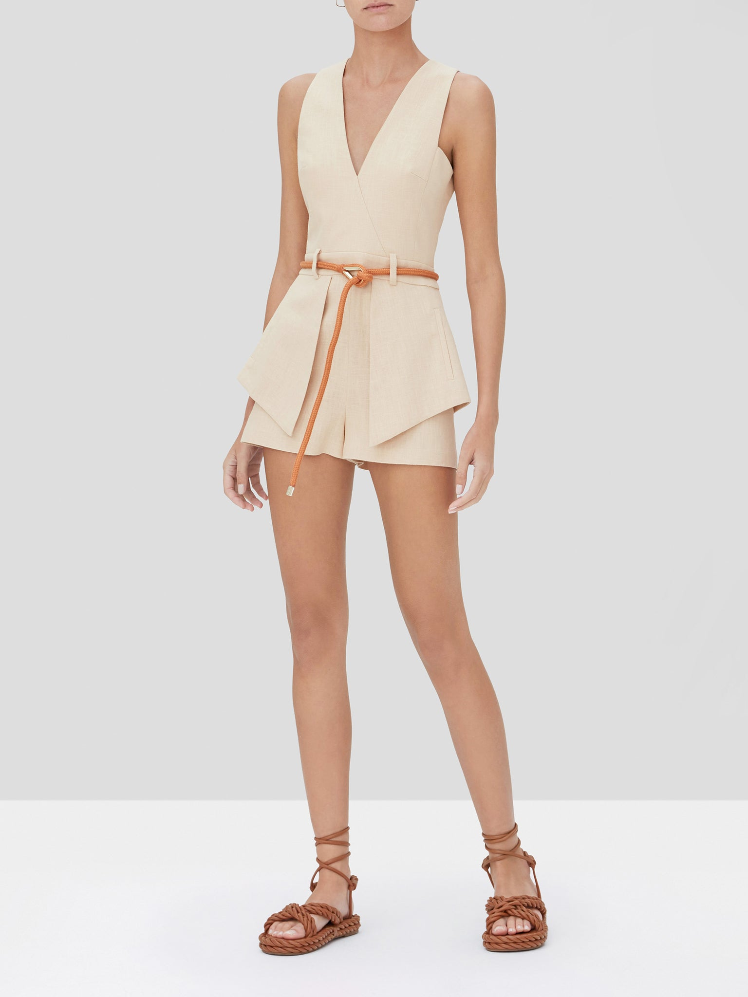 darby romper fawn