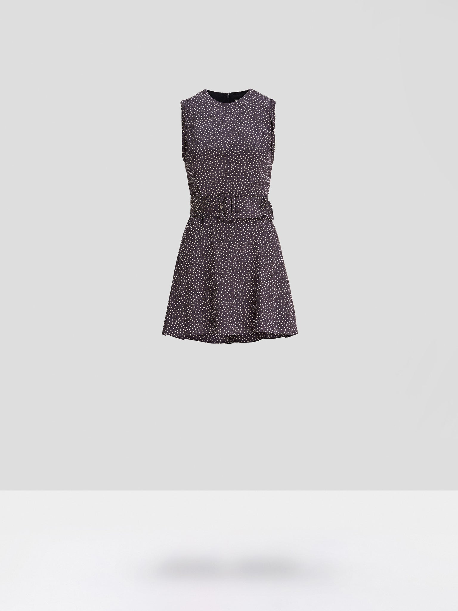 Alexis Dutsa Dress in Navy and Beige Dot