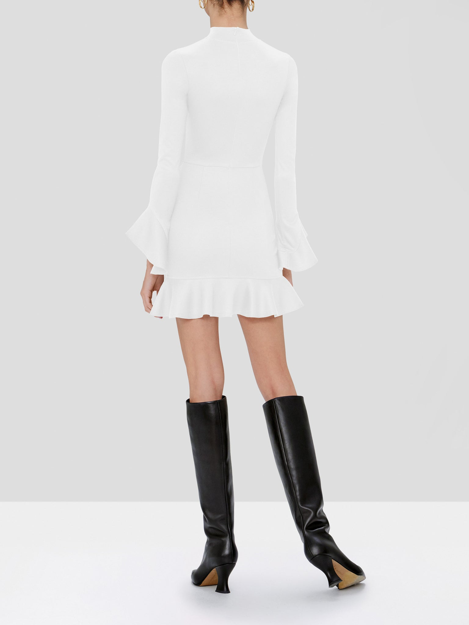eladia dress in white - Rear View