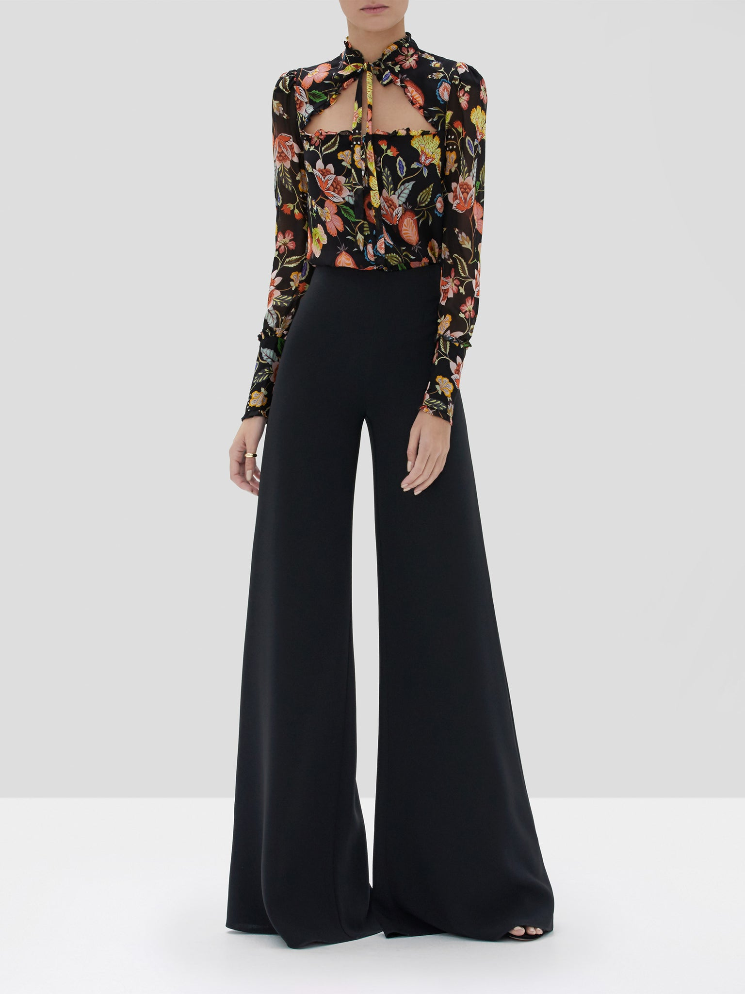 Alexis Elodie Top Black Nouveau and Irvine Pant Black from the Fall Winter 2019 Collection