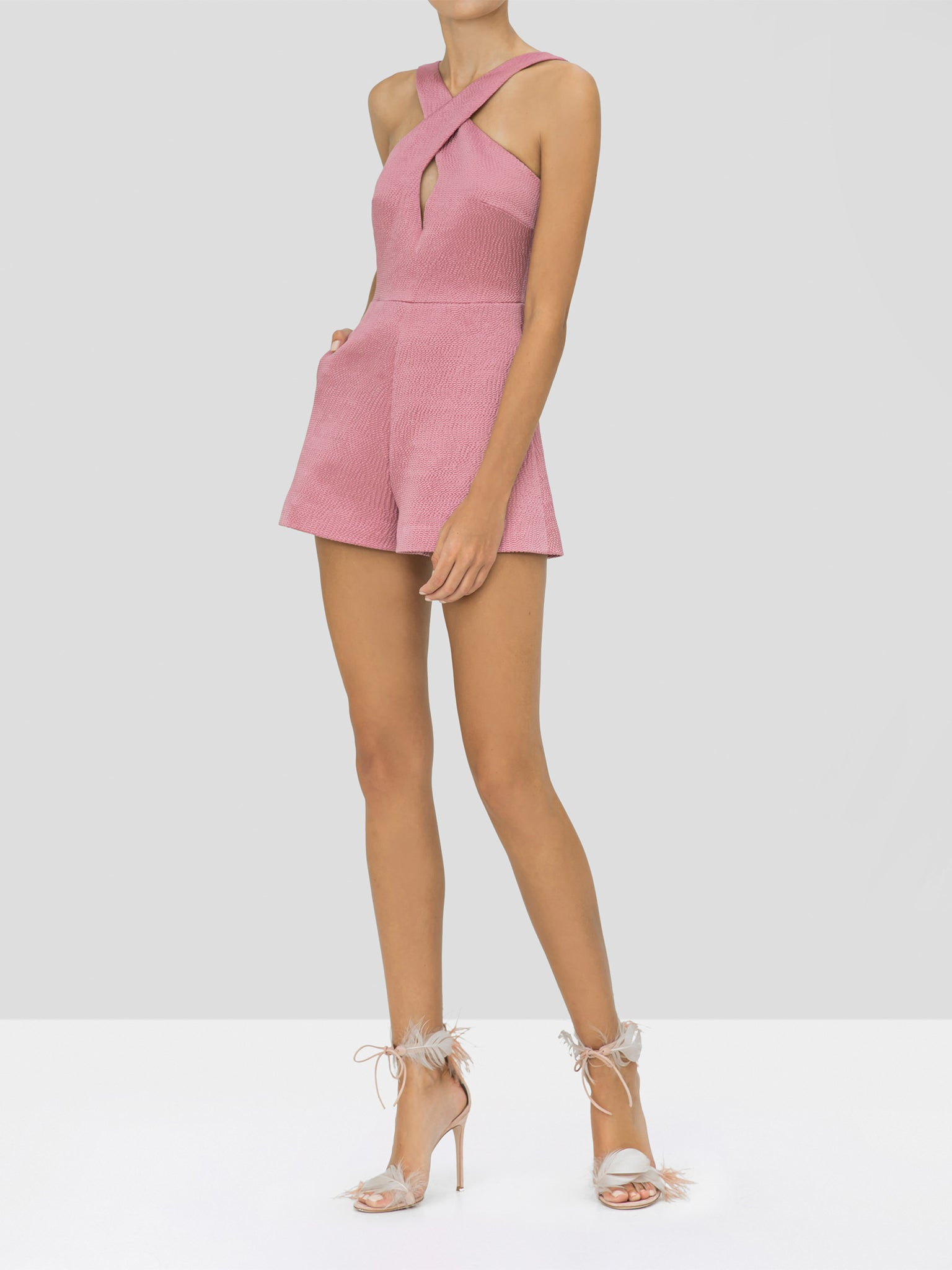Alexis Emorie Romper in Violet from the Holiday 2019 Ready To Wear Collection