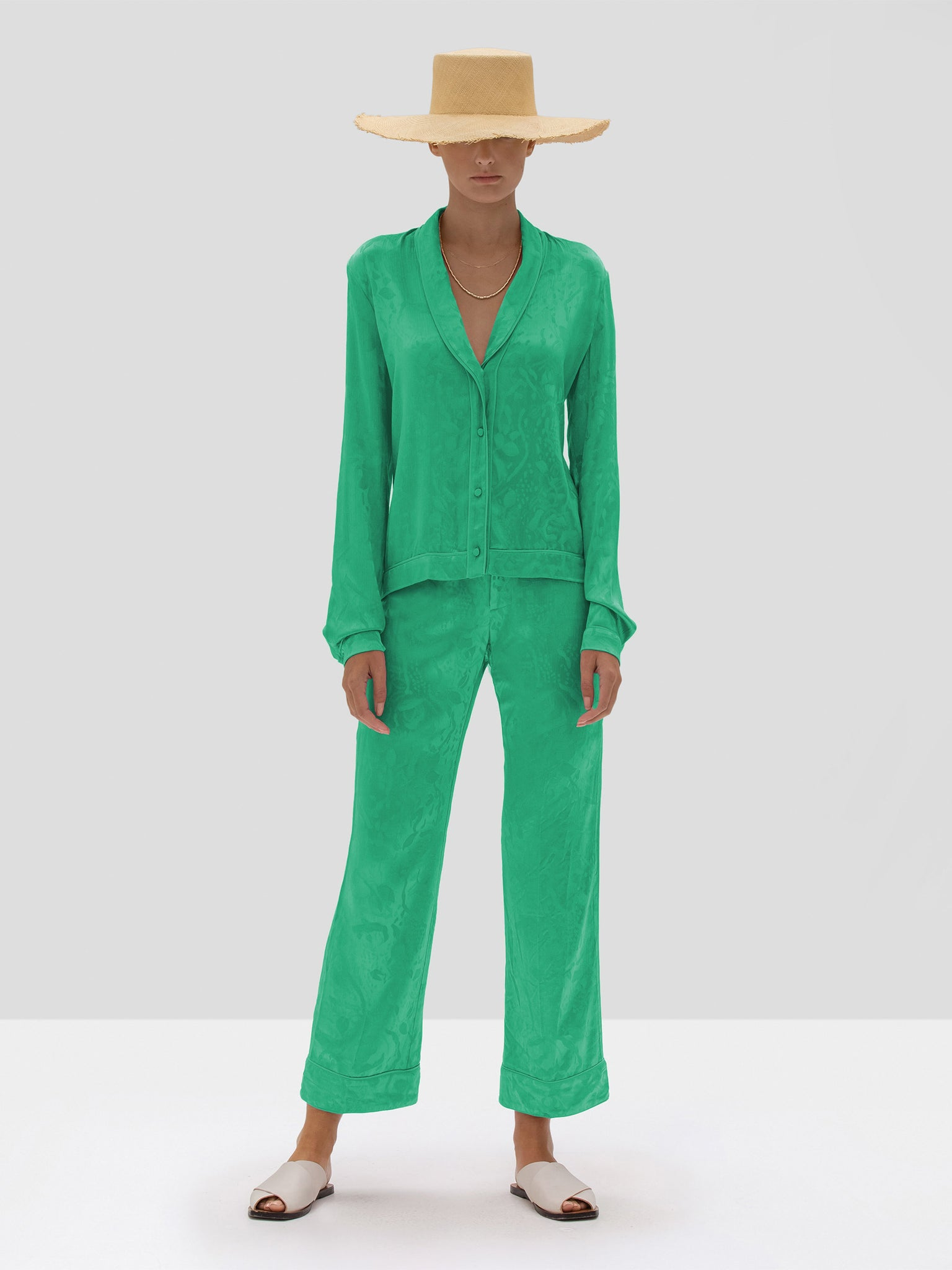 The Justyn Pant in Emerald Green from the Spring Summer 2020