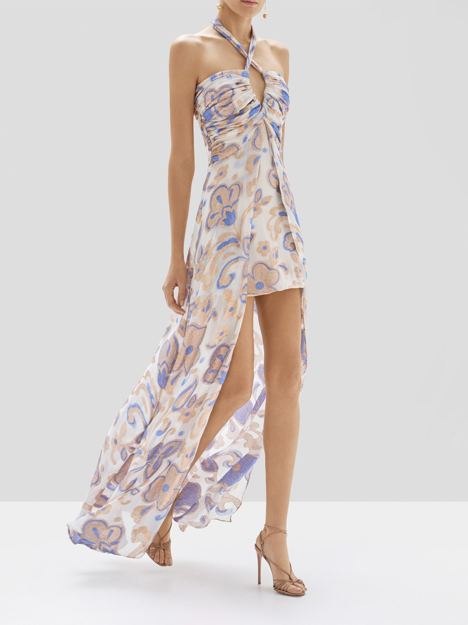 Alexis Falana Dress in Cerulean Garden from Pre Spring 2020
