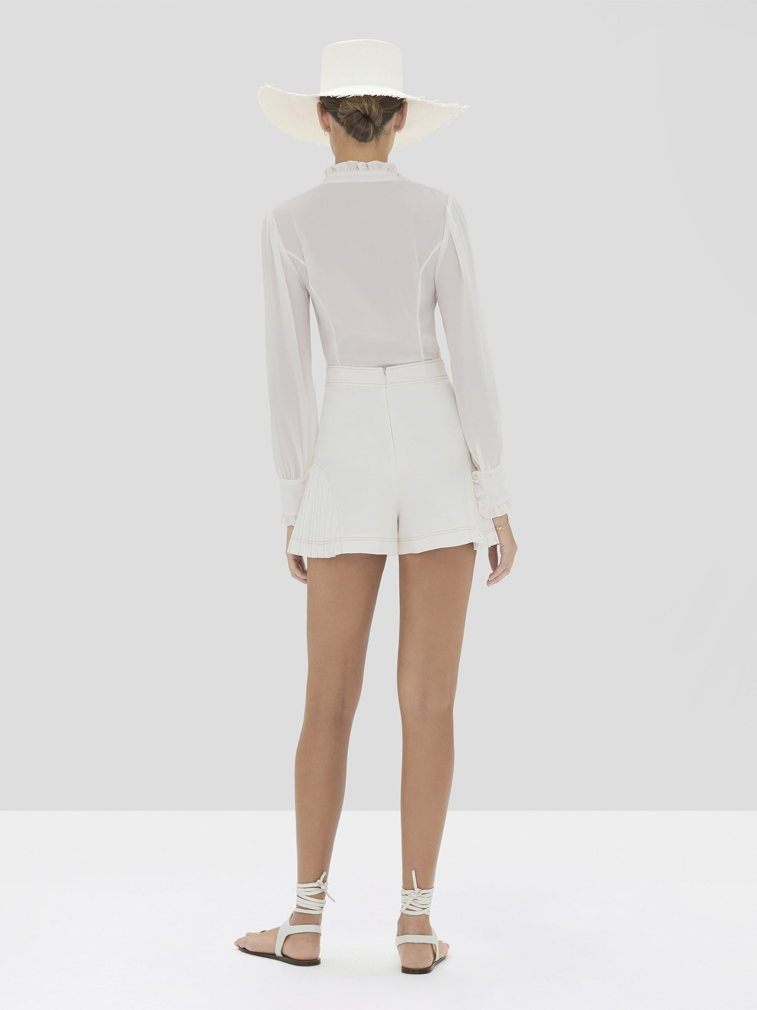 The Scottie Short in Off White from the Spring Summer 2020 - Rear View
