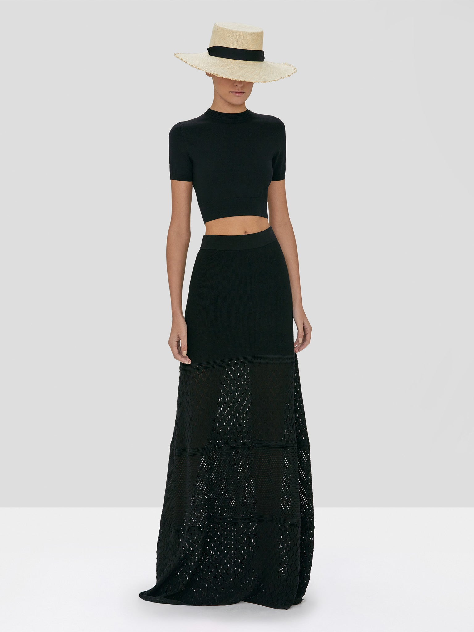 Alexis Finzi Crop Top and Ecco Skirt in Black from the Spring Summer 2020 Collection