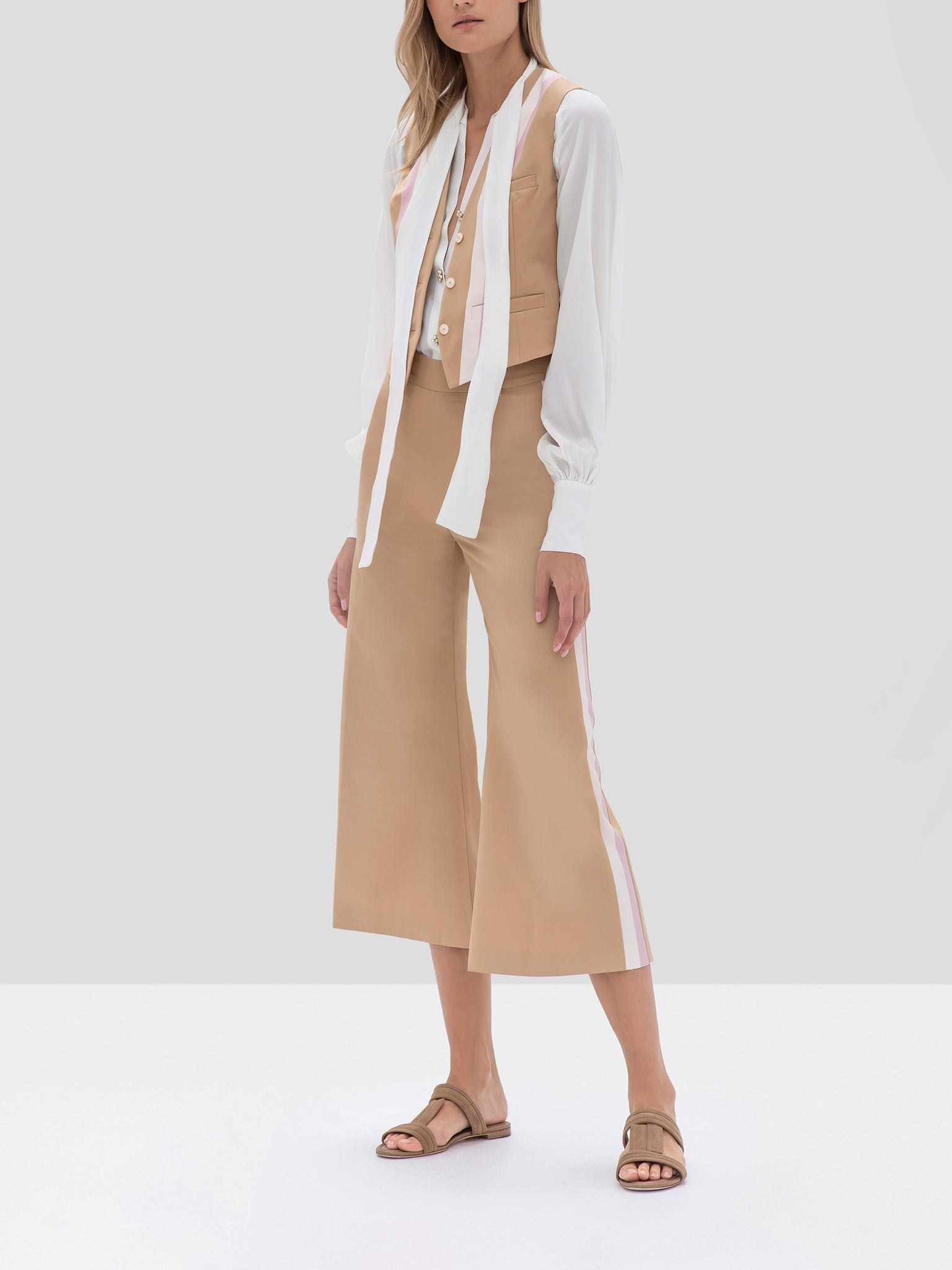 Alexis Franz Vest and Lennox Pant in Striped Tan