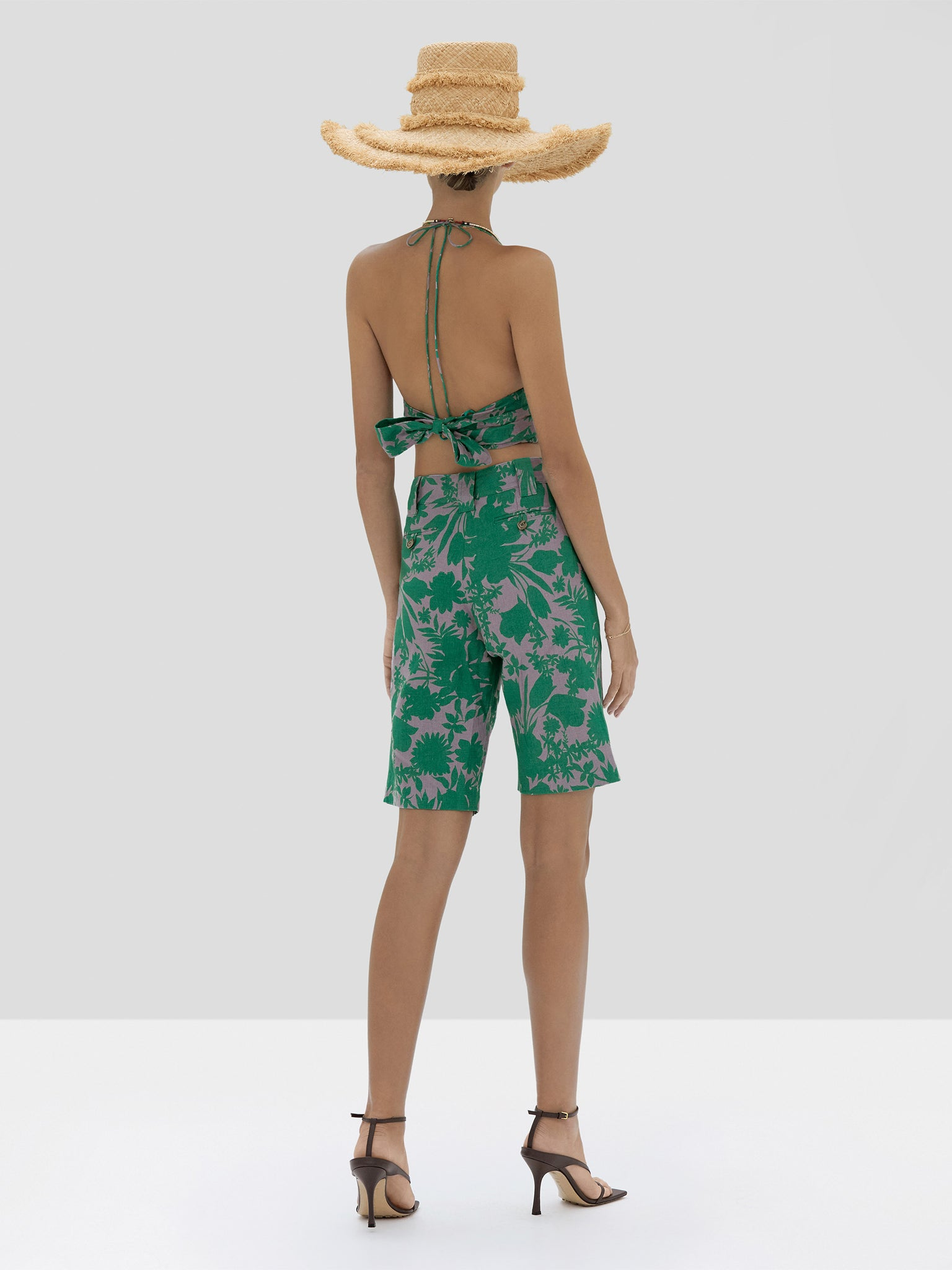 The Gaila Top in Emerald Botanical from the Spring Summer 2020 - Rear View