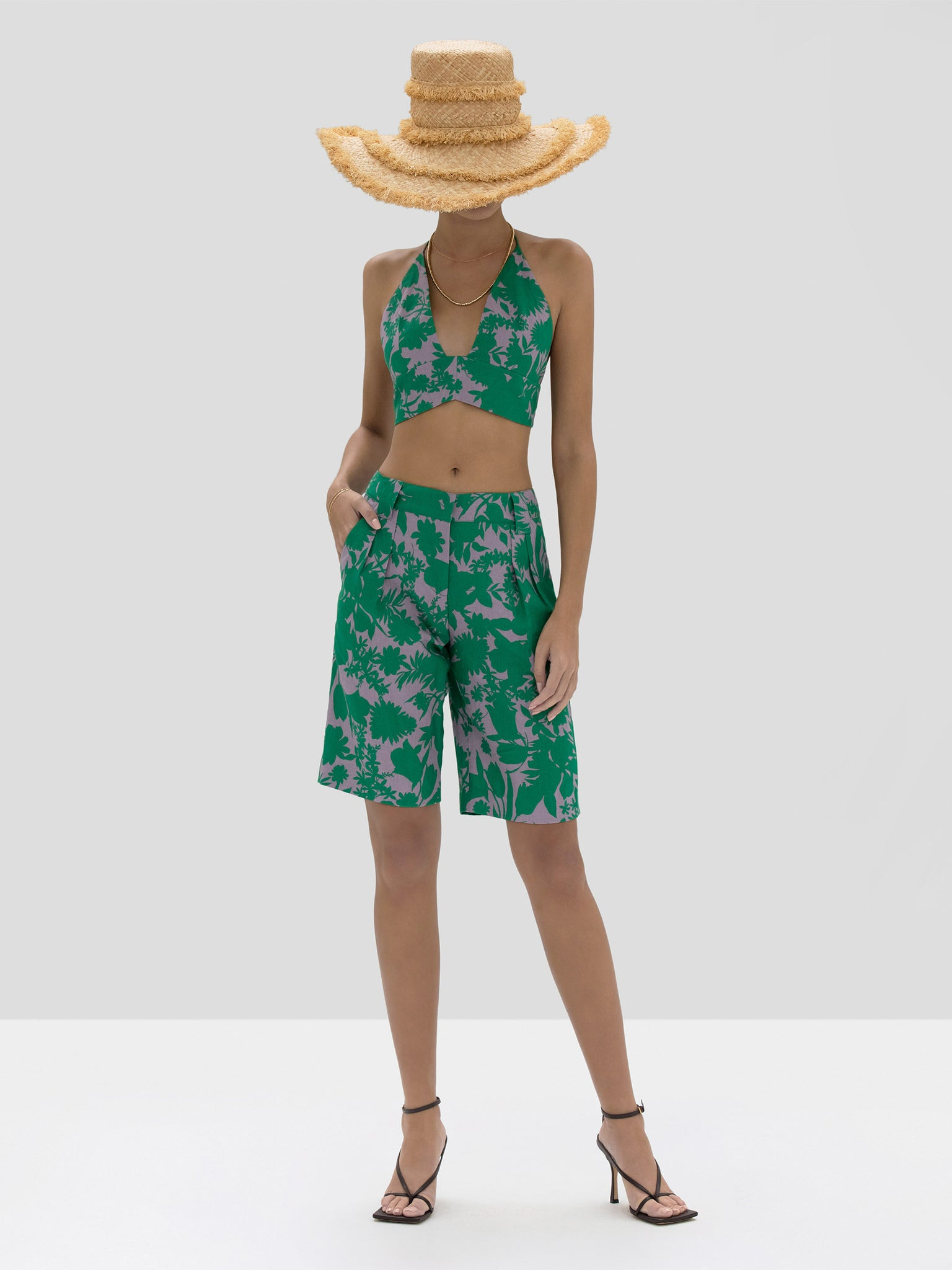 The Gaila Top in Emerald Botanical from the Spring Summer 2020