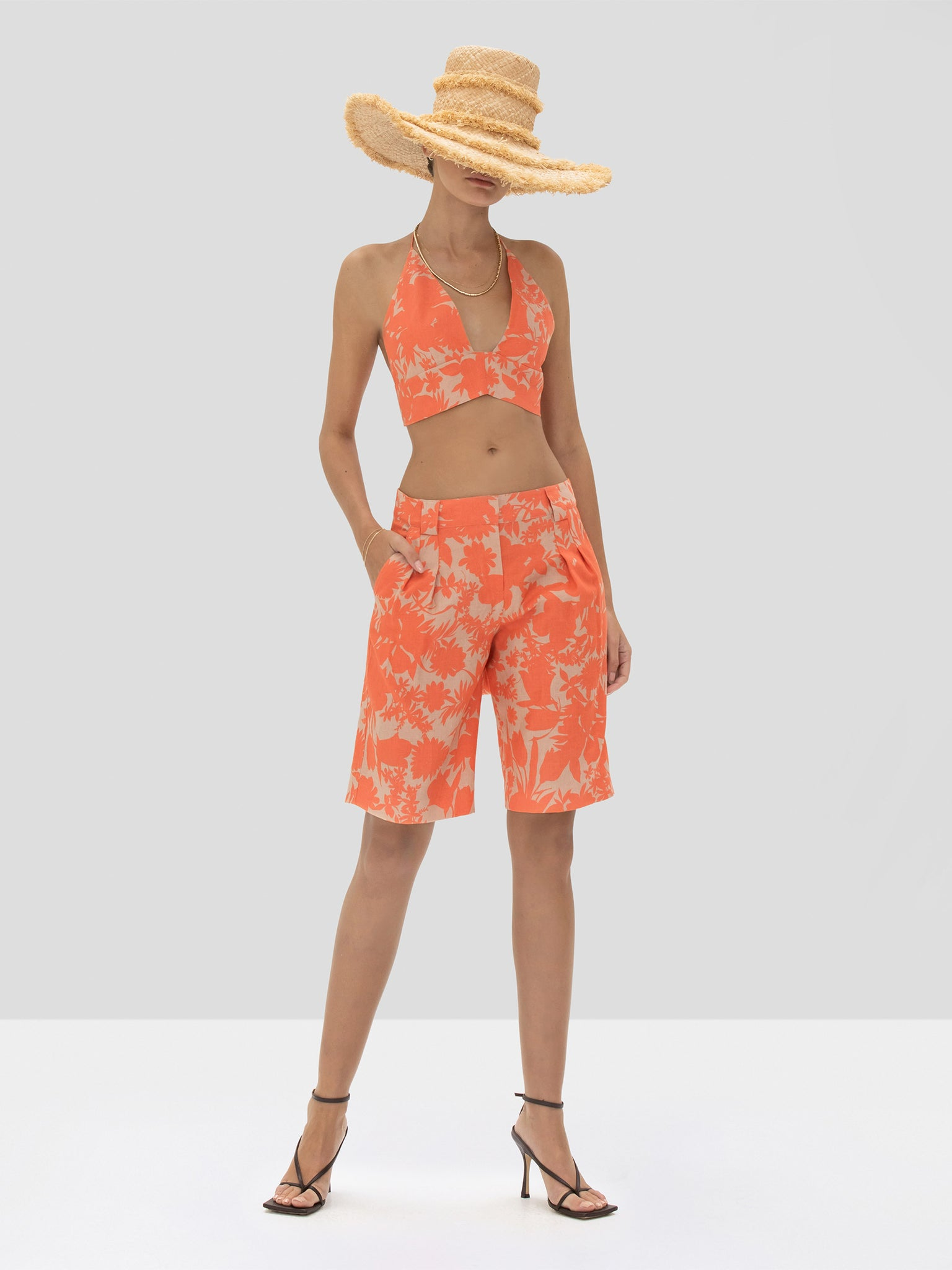 The Gaila Top in Sand Botanical from the Spring Summer 2020 Ready To Wear Collection.