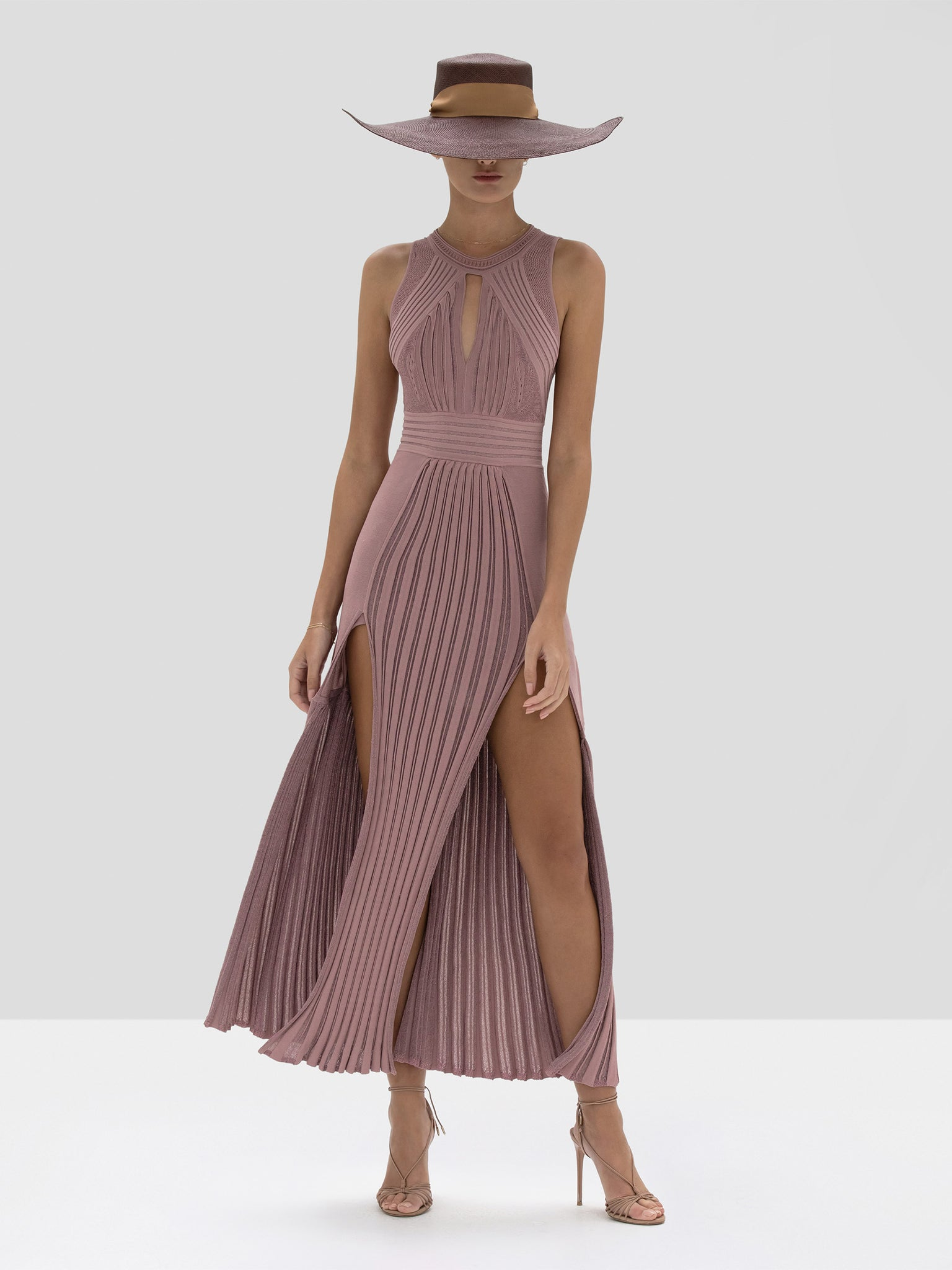 Alexis Gara Dress in Dusty Rose from Spring Summer 2020