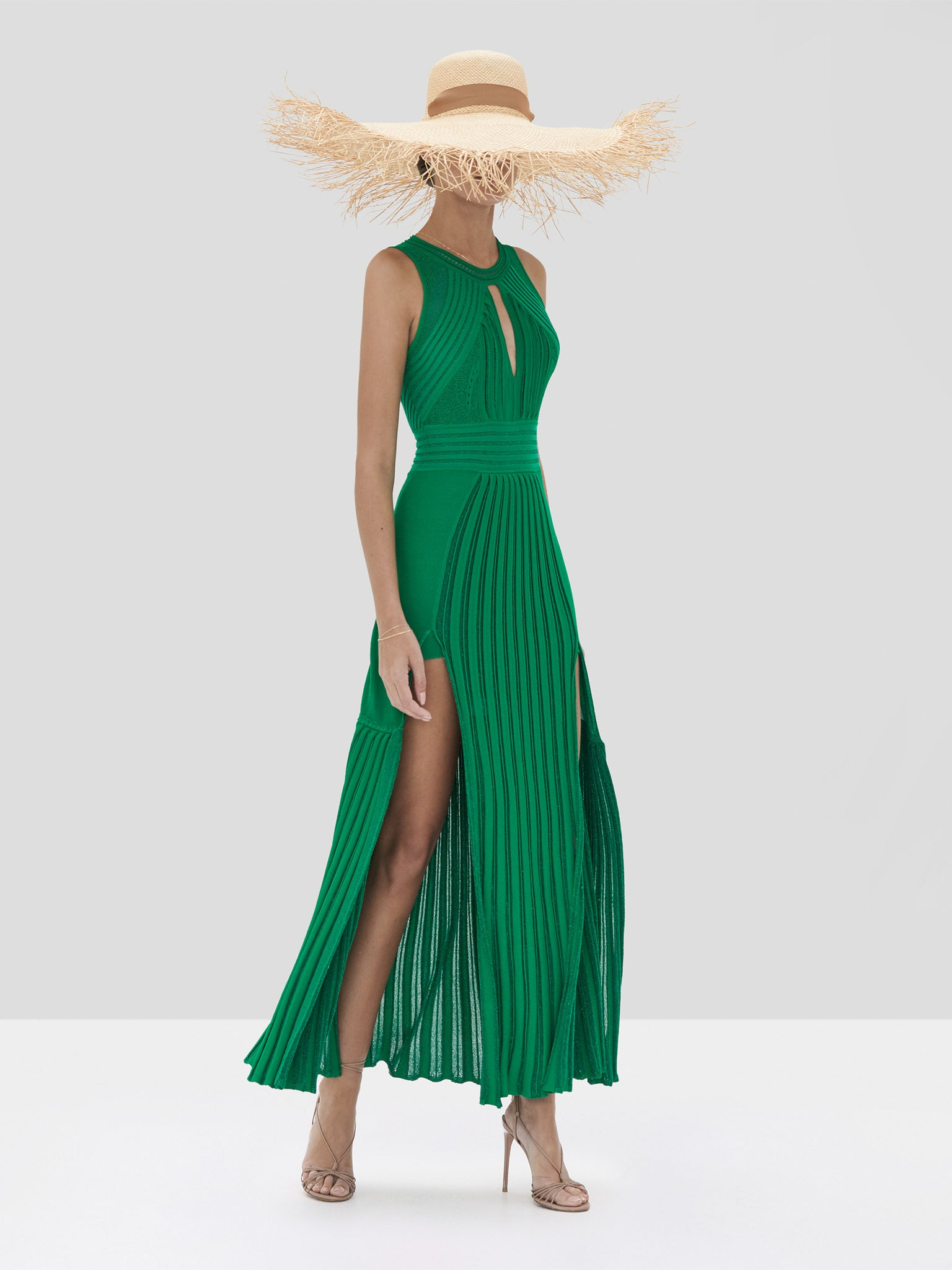 Alexis Gara Dress in Green from the Spring Summer 2020 Collection