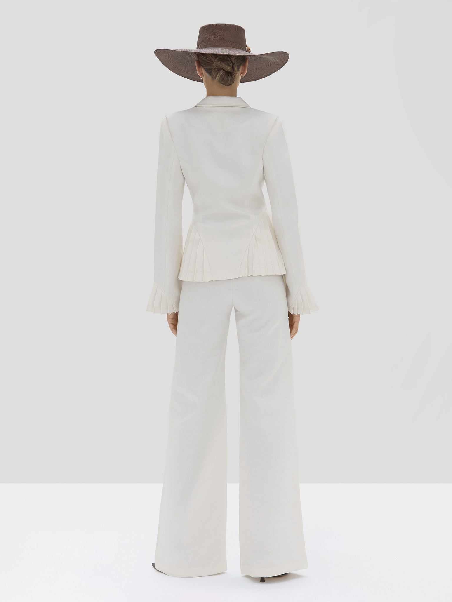 The Alfons Pant in Off White from the Spring Summer 2020 Ready To Wear Collection - Rear View
