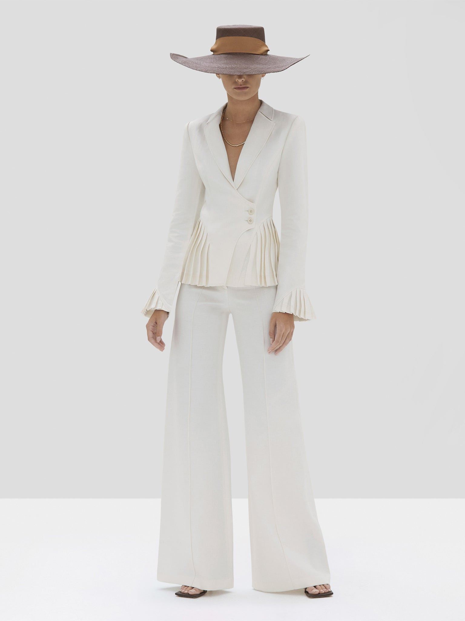 The Alfons Pant in Off White from the Spring Summer 2020 Ready To Wear Collection