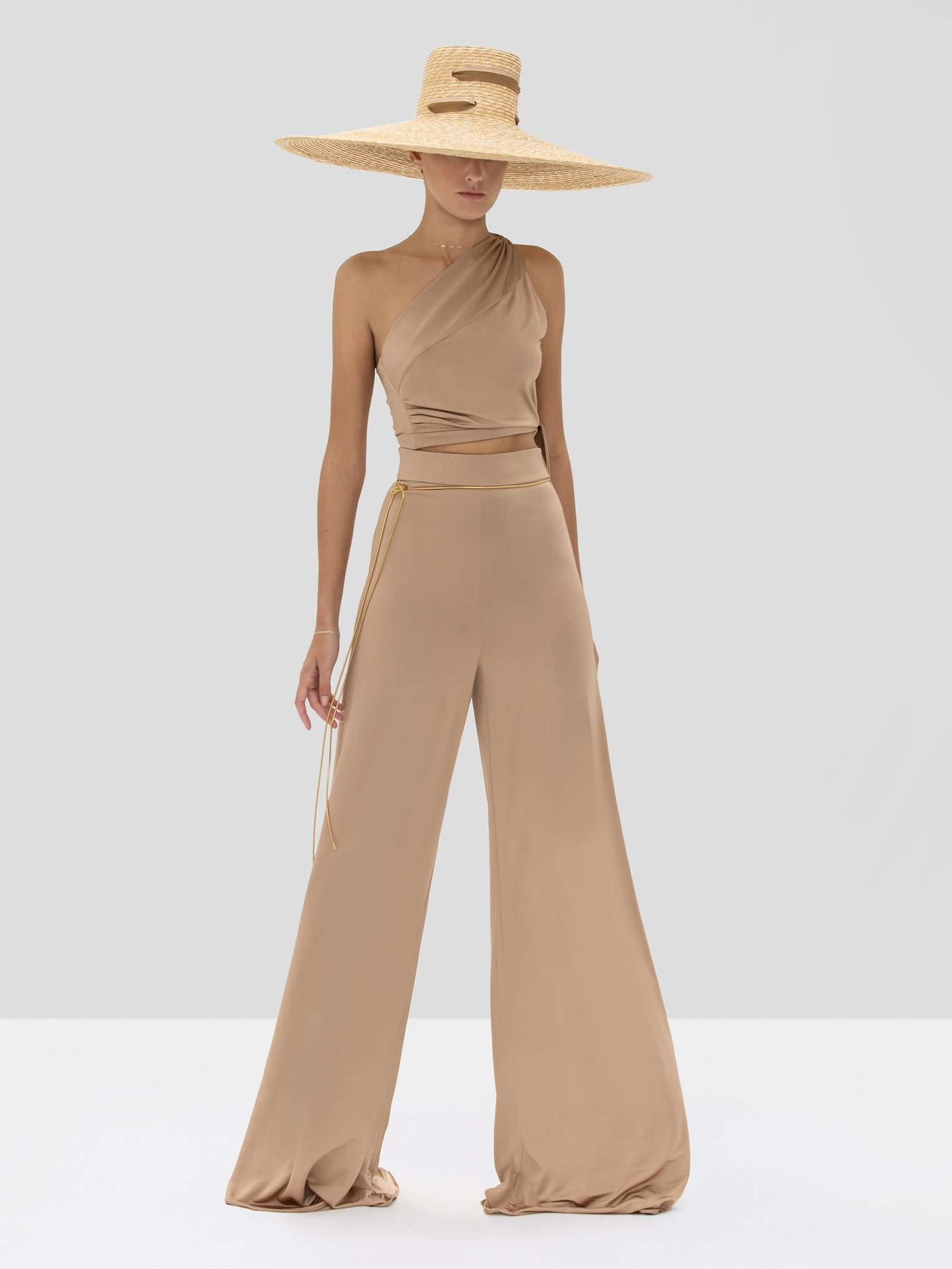Alexis Camilo Pant and Gwen Top in Tan from the Spring Summer 2020 Collection