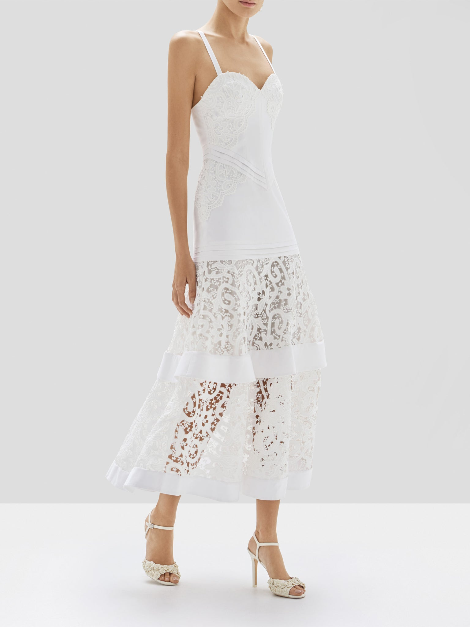 Alexis Harlowe Dress in White from Pre Spring 2020 Collection