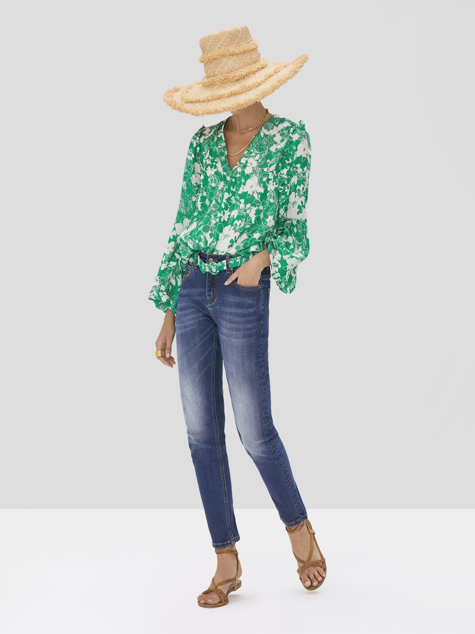The Idir Top in Emerald Floral from the Spring Summer 2020 Ready To Wear Collection.