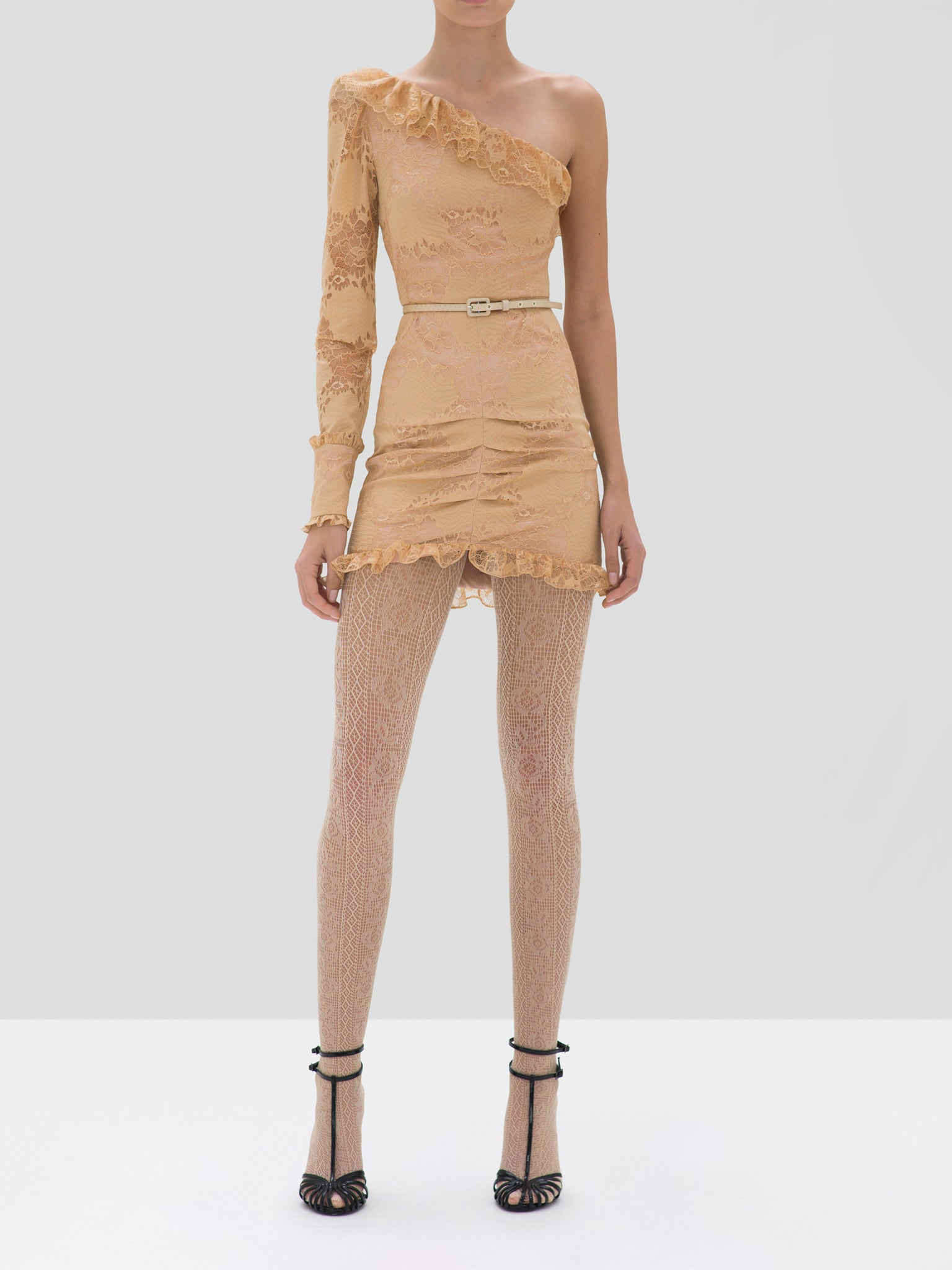 Alexis Ilana Dress in Sand from the Fall Winter 2019 Ready To Wear Collection